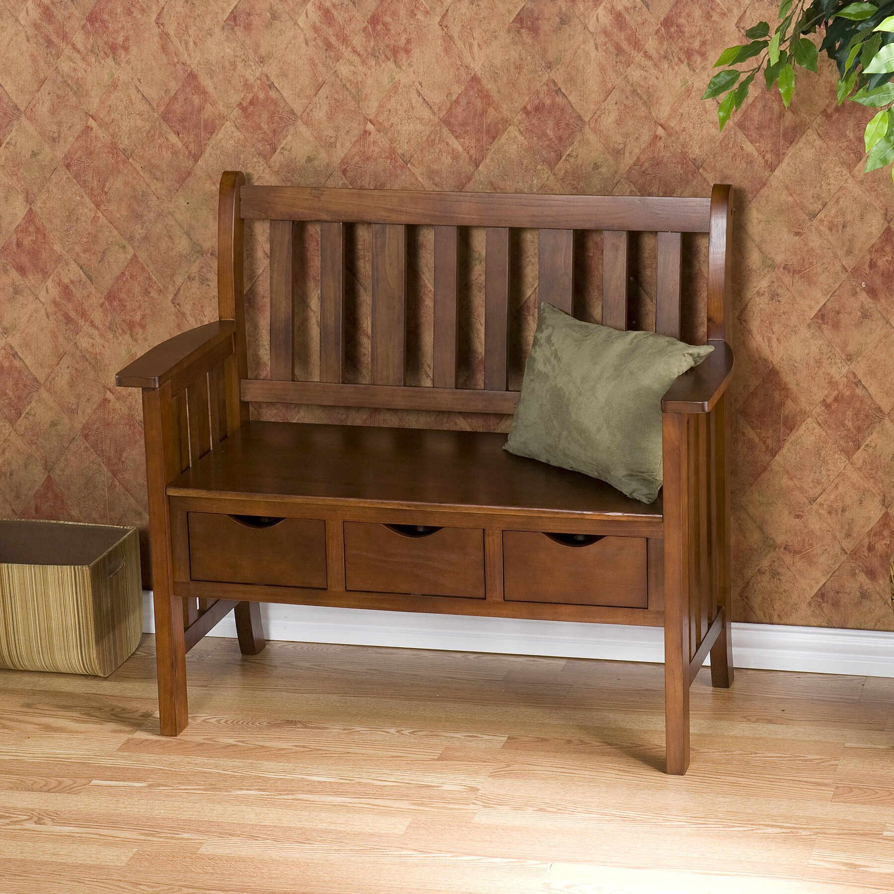 Foyer And Entryways Reviews : Wildon home davidson storage wood entryway bench