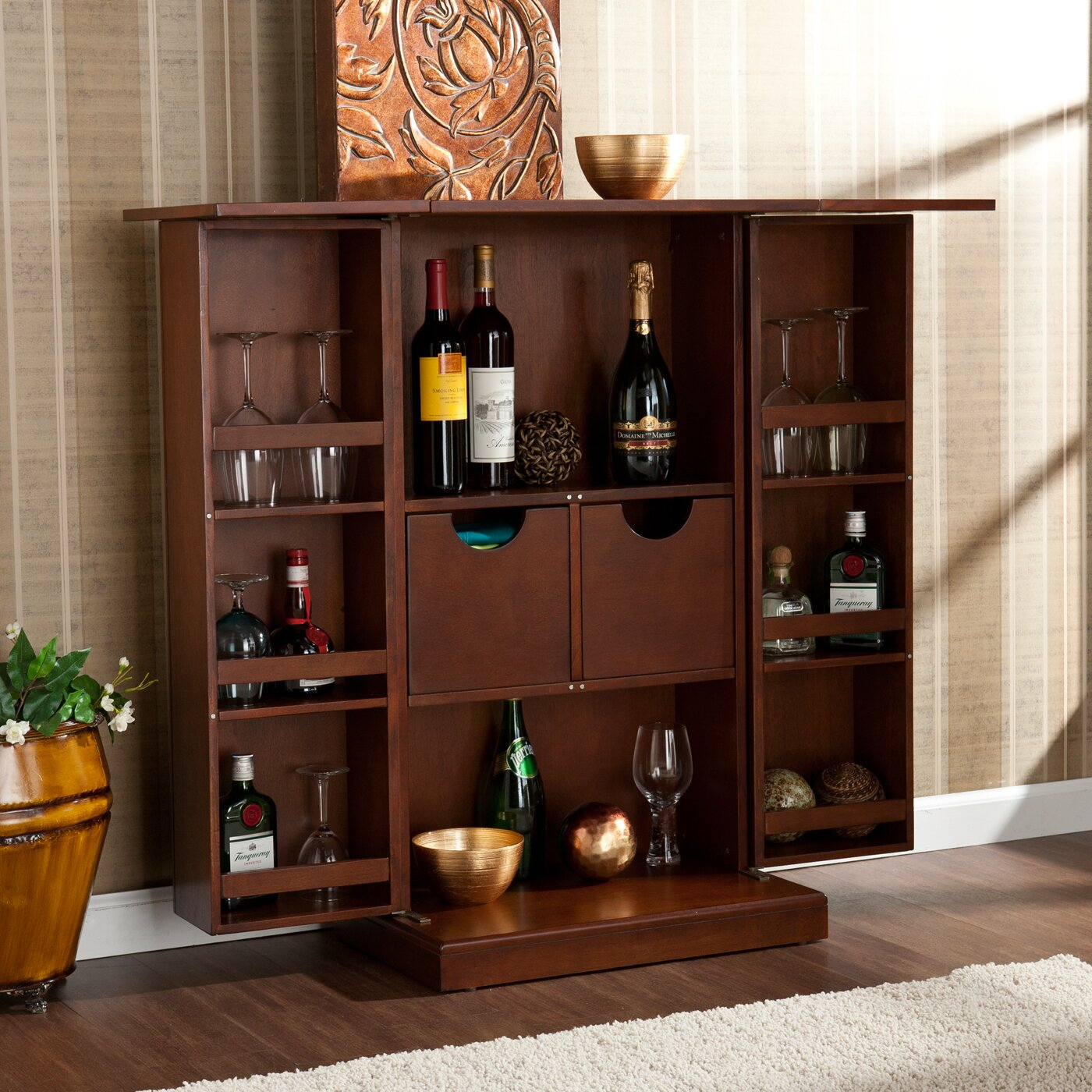 Wildon Home 174 Boswell Bar Cabinet With Wine Storage