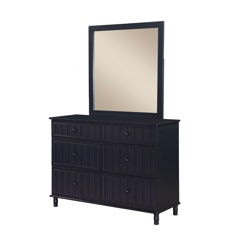 Wildon Home Zachary 6 Drawer Dresser With Mirror