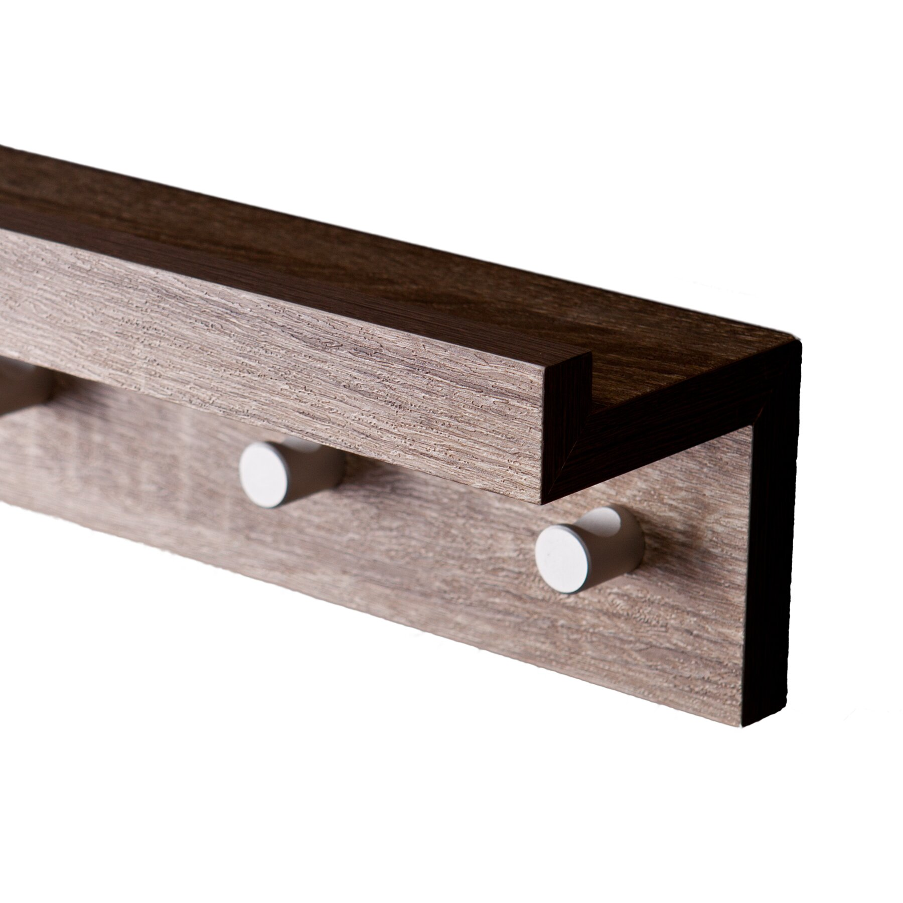 wildon home alex 4 hook wall mounted coat rack reviews wayfair. Black Bedroom Furniture Sets. Home Design Ideas