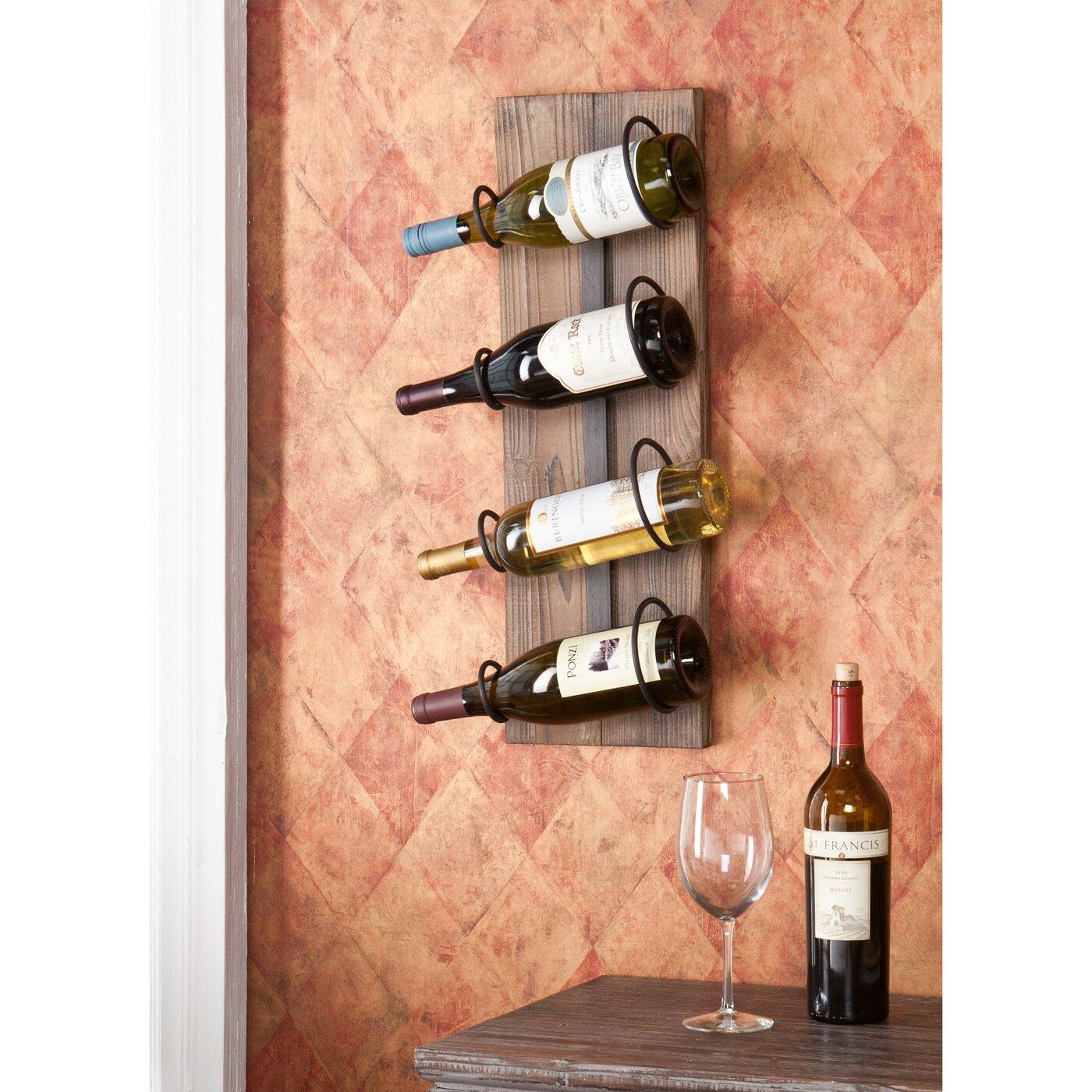 Wildon Home 174 Wicklow 4 Bottle Wall Mounted Wine Rack