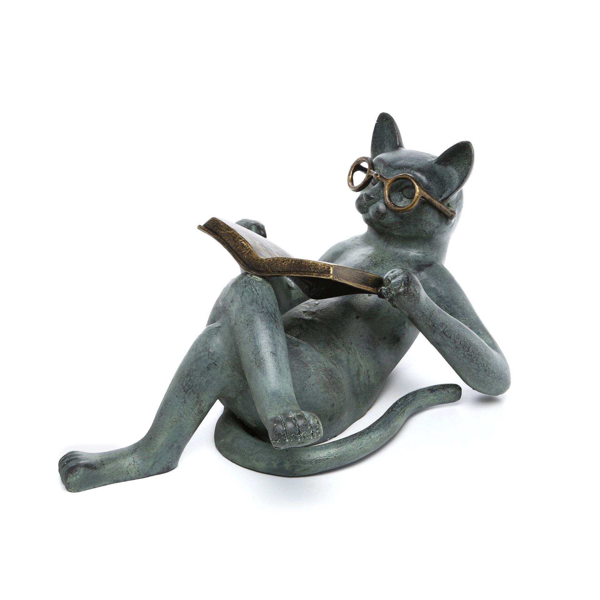 Twin Xl Mattresses SPI Home Literary Cat Garden Statue & Reviews | Wayfair