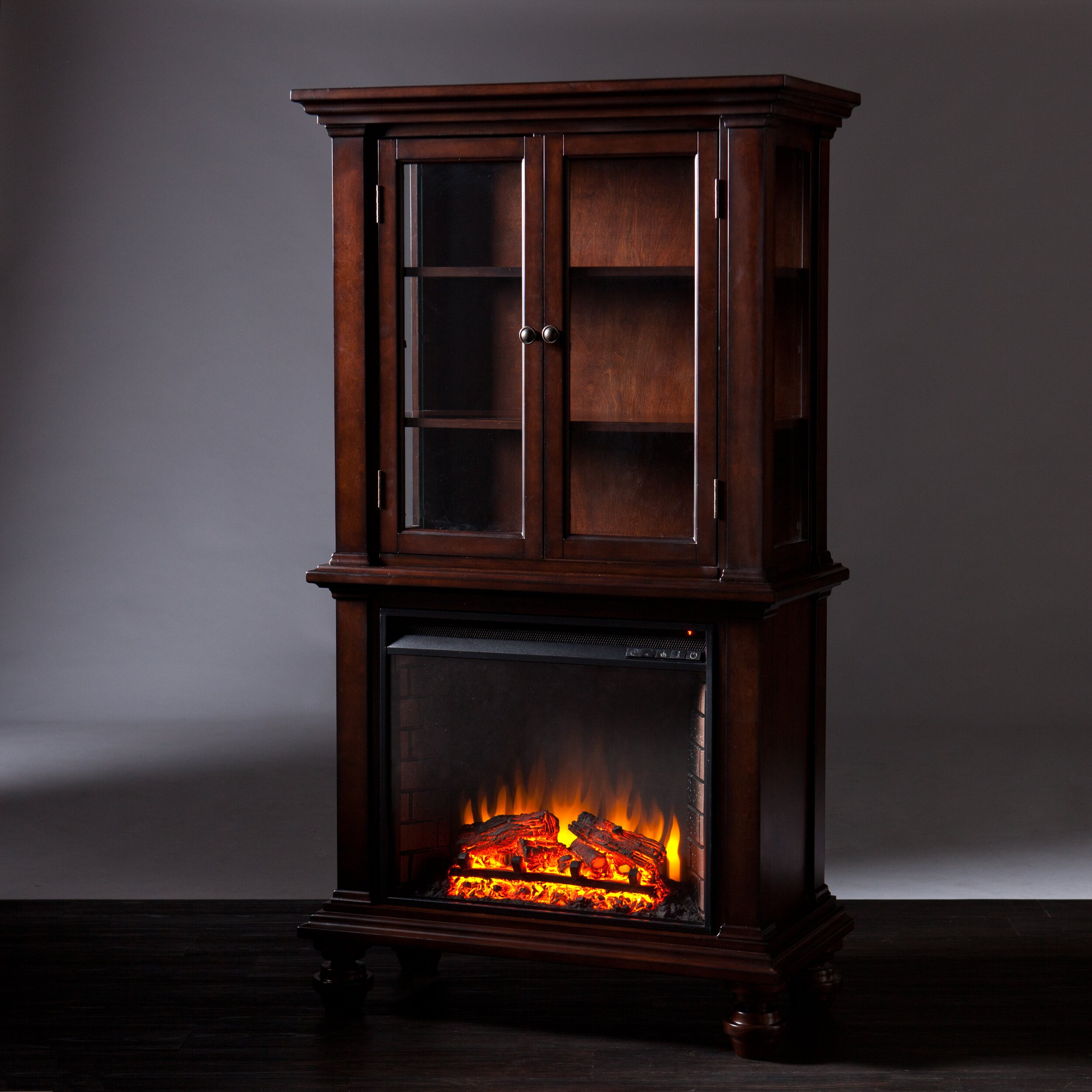 Fireplace Cabinets: Wildon Home ® Suttonfield Curio Electric Fireplace