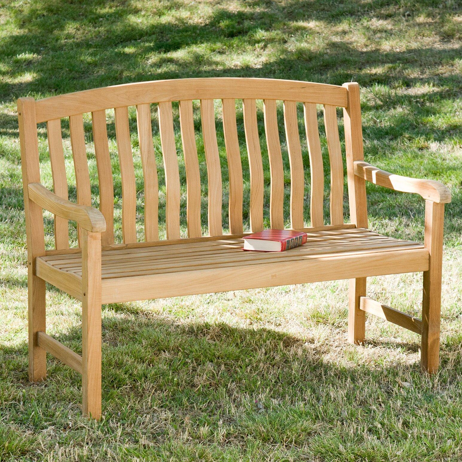 Wildon Home Teak Garden Bench Reviews Wayfair