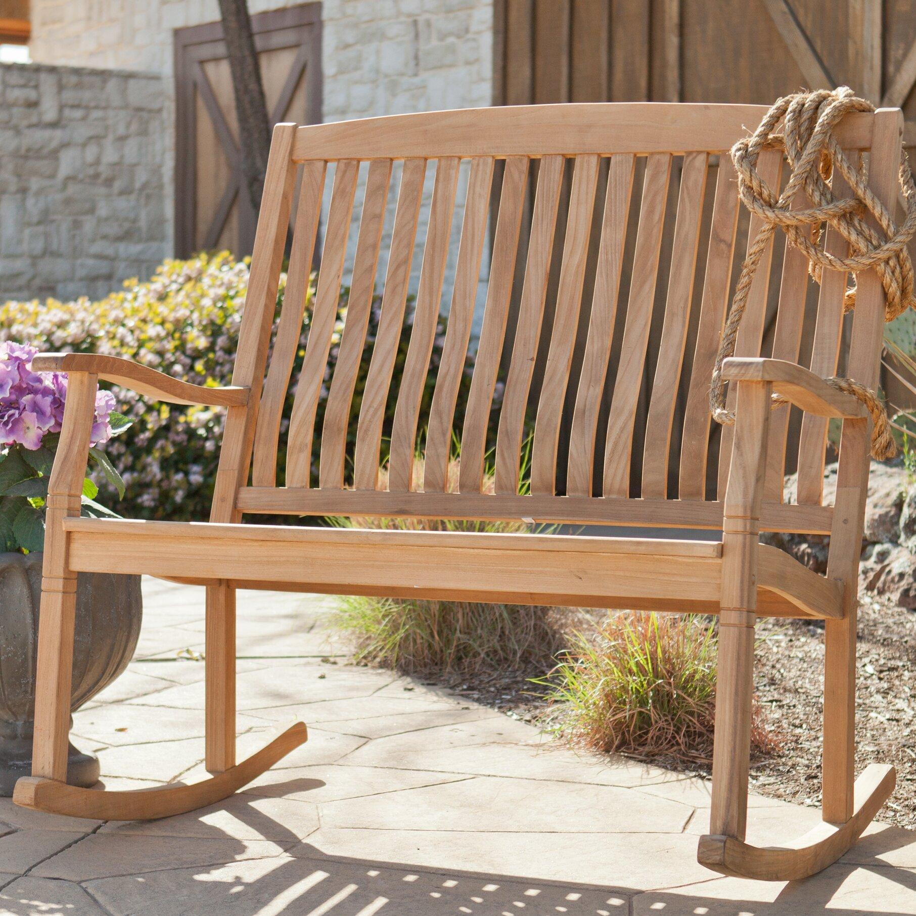 Wildon Home Highland Teak Garden Bench Wayfair