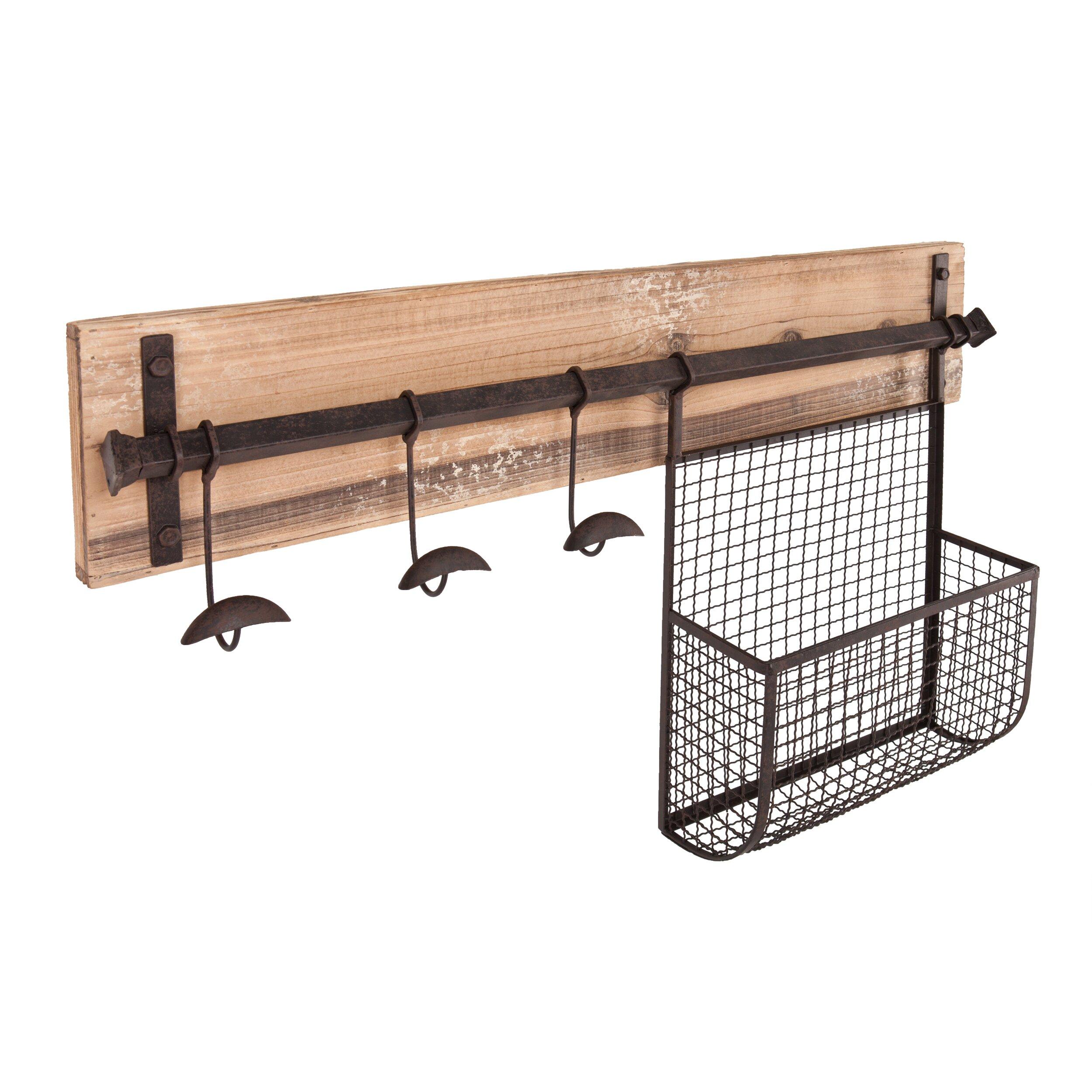 wildon home hampton entryway wall coat rack with storage. Black Bedroom Furniture Sets. Home Design Ideas