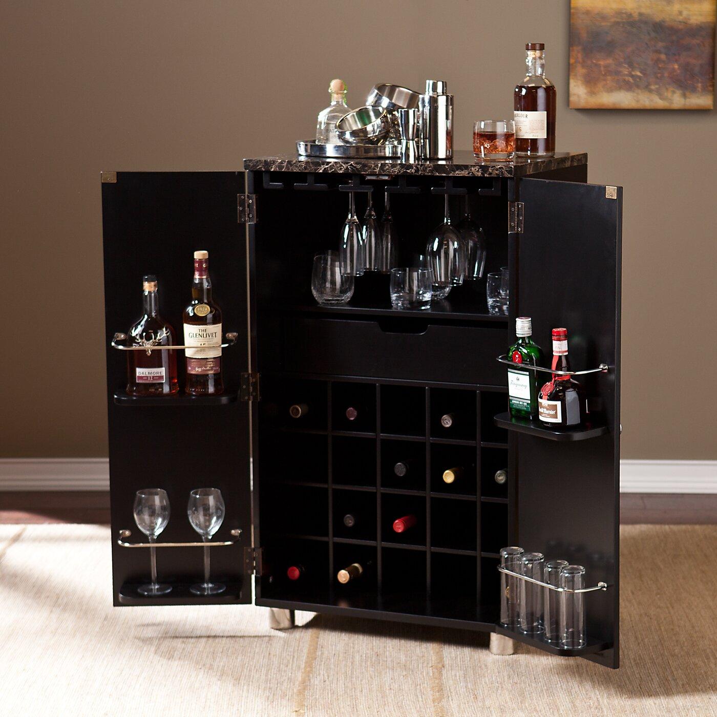Wildon Home 174 Capri Bar Cabinet With Wine Storage