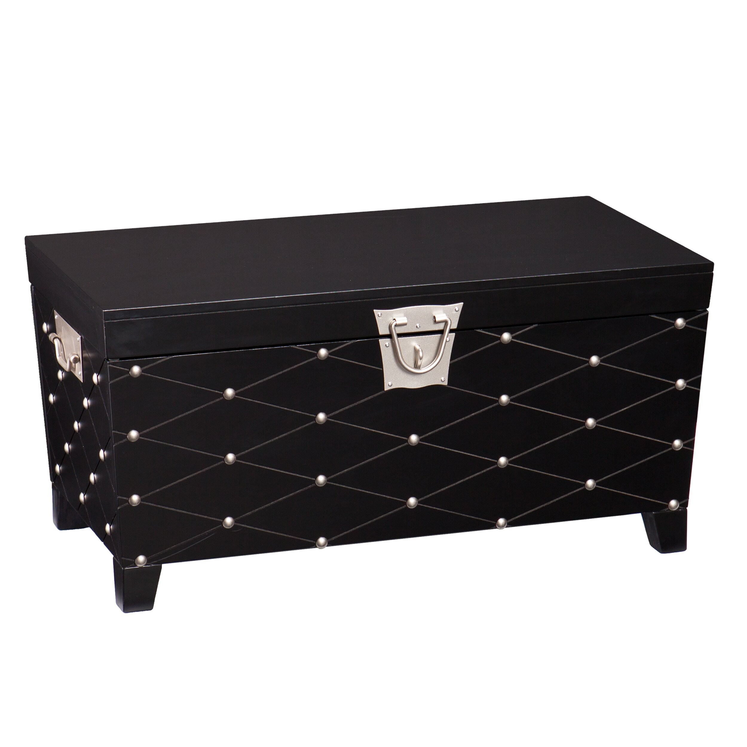 Wildon home ridgeway storage trunk reviews wayfair Silver trunk coffee table