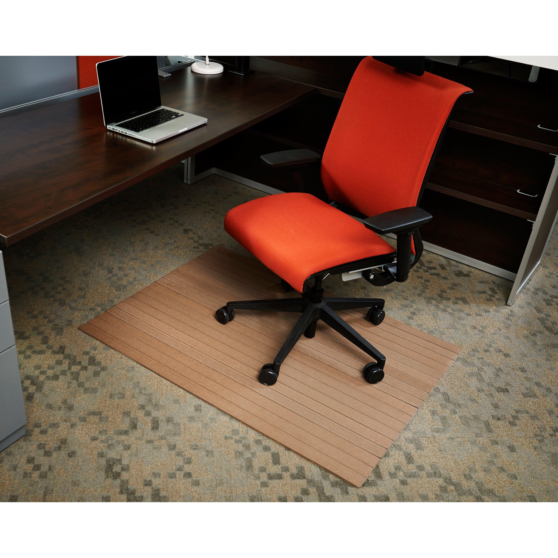 wildon home low pile bamboo composite office chair mat reviews wayfair. Black Bedroom Furniture Sets. Home Design Ideas