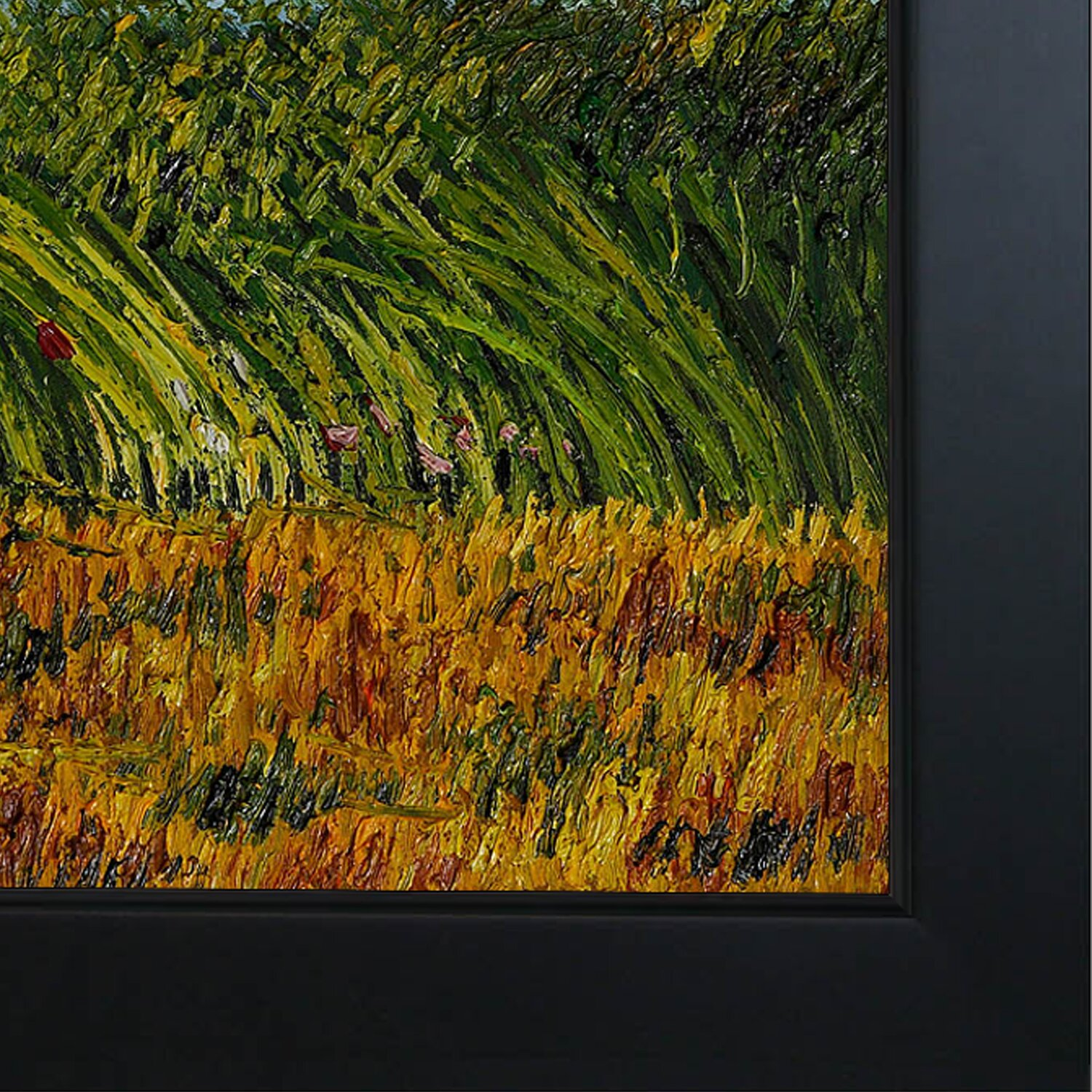 Wildon Home u00ae Edge of A Wheat Field with Poppies and A Lark by Vincent Van Gogh Framed Original ...