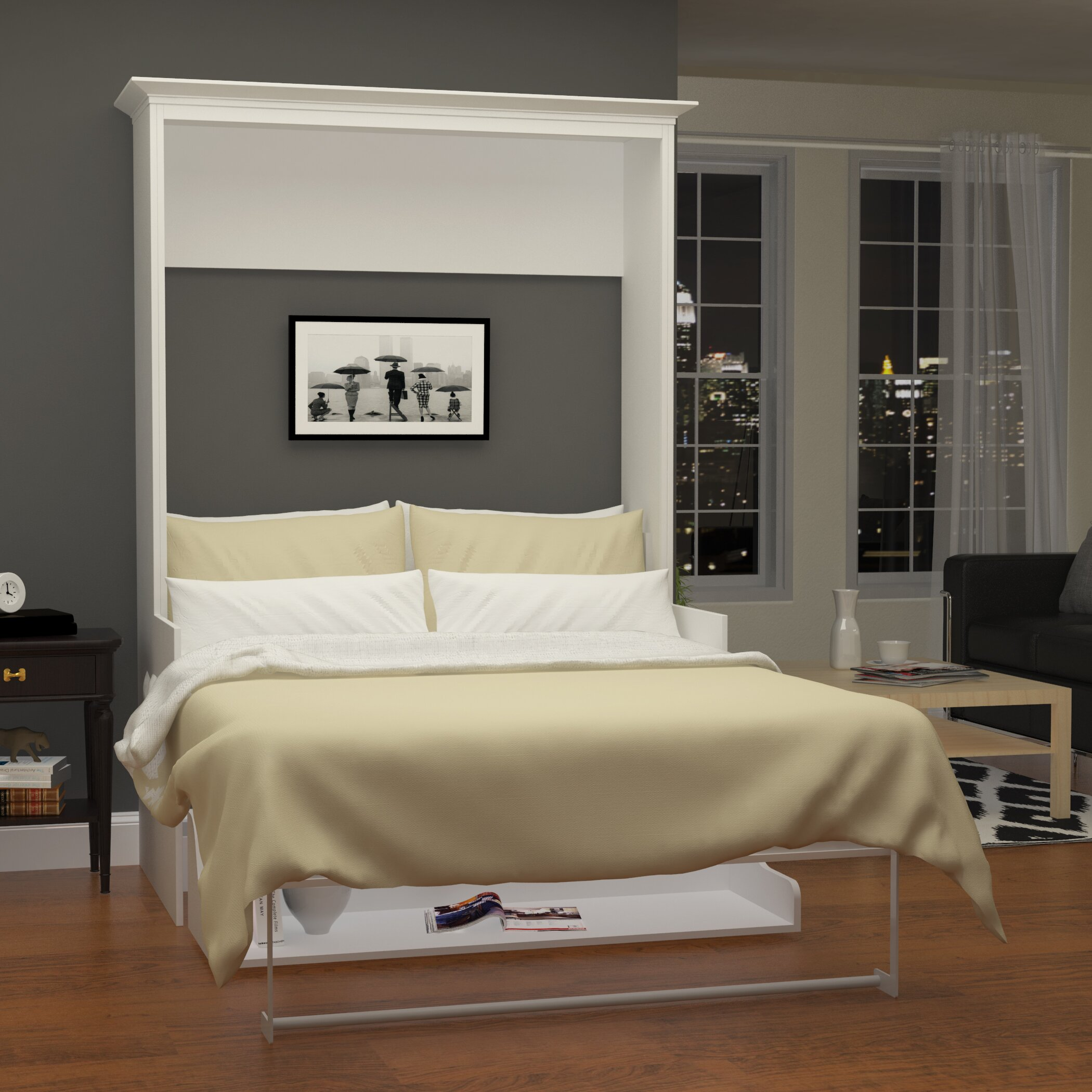 wildon home avalon murphy bed wayfair. Black Bedroom Furniture Sets. Home Design Ideas