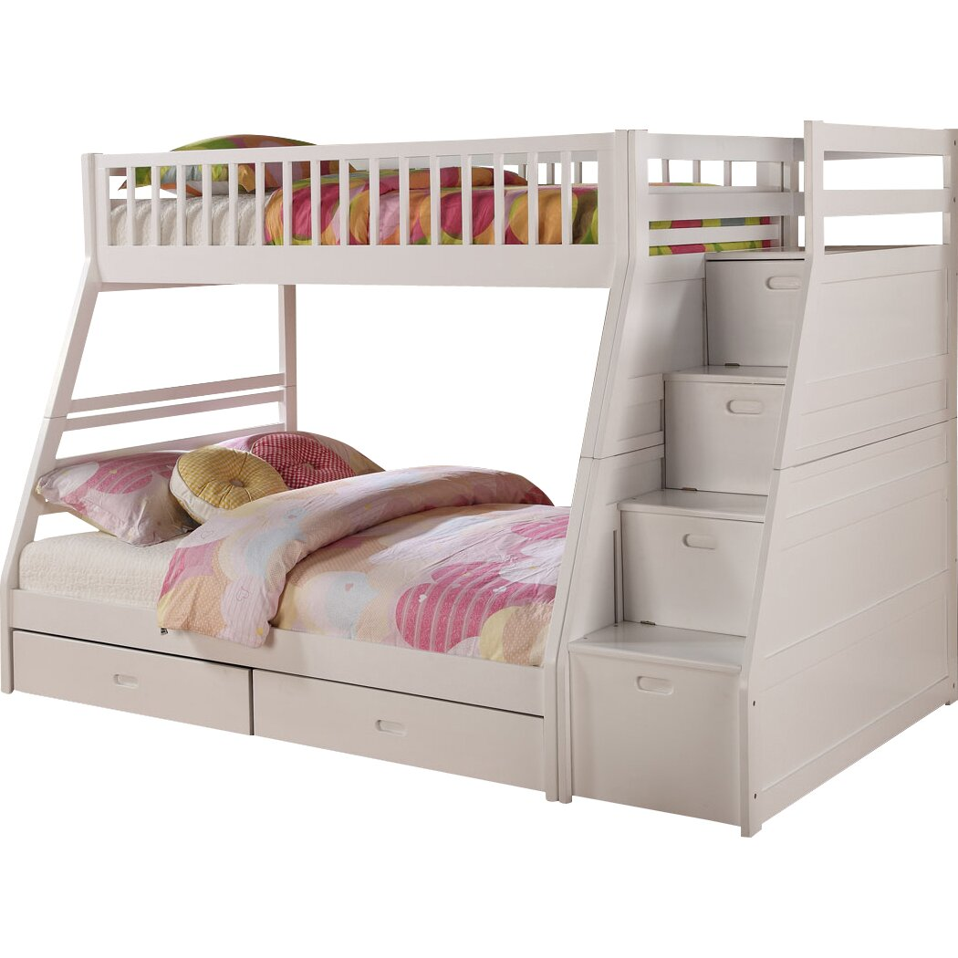 Wildon Home Dakota Twin Over Full Bunk Bed With Storage