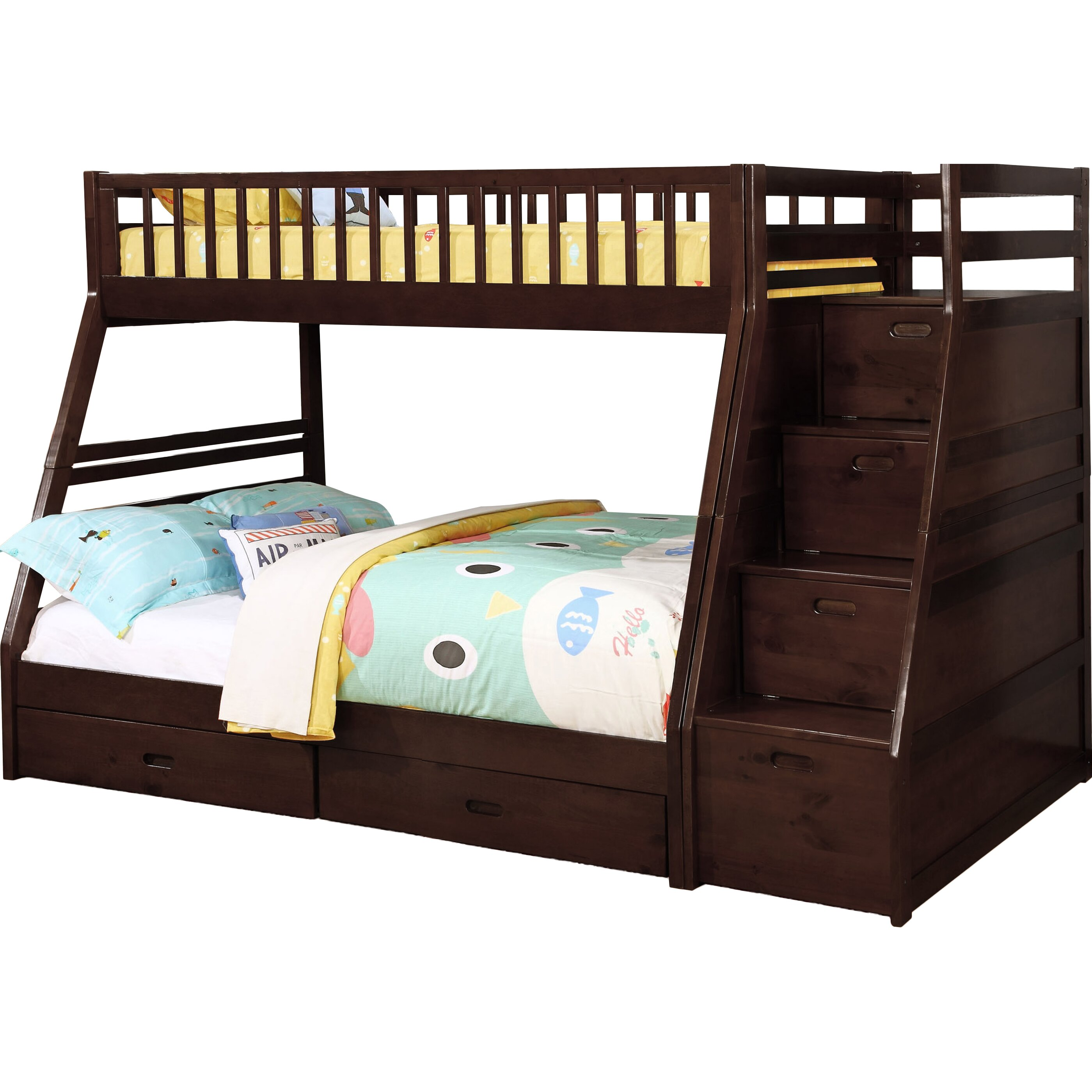 Best 25 Twin Full Bunk Bed Ideas On Pinterest: Wildon Home ® Dakota Twin Over Full Bunk Bed With Storage