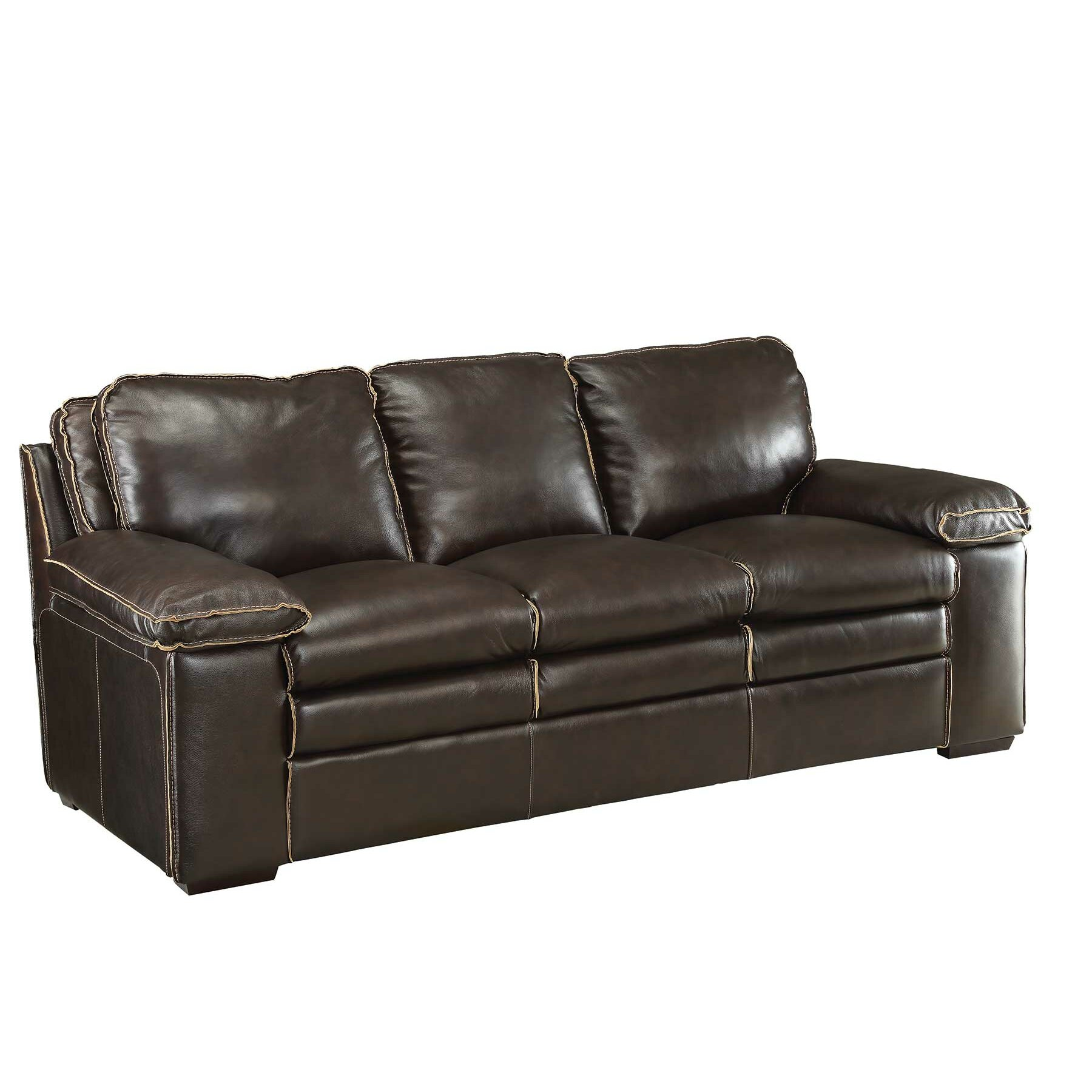 Modular Furniture Sofa: Wildon Home ® Regalvale Leather Modular Sofa