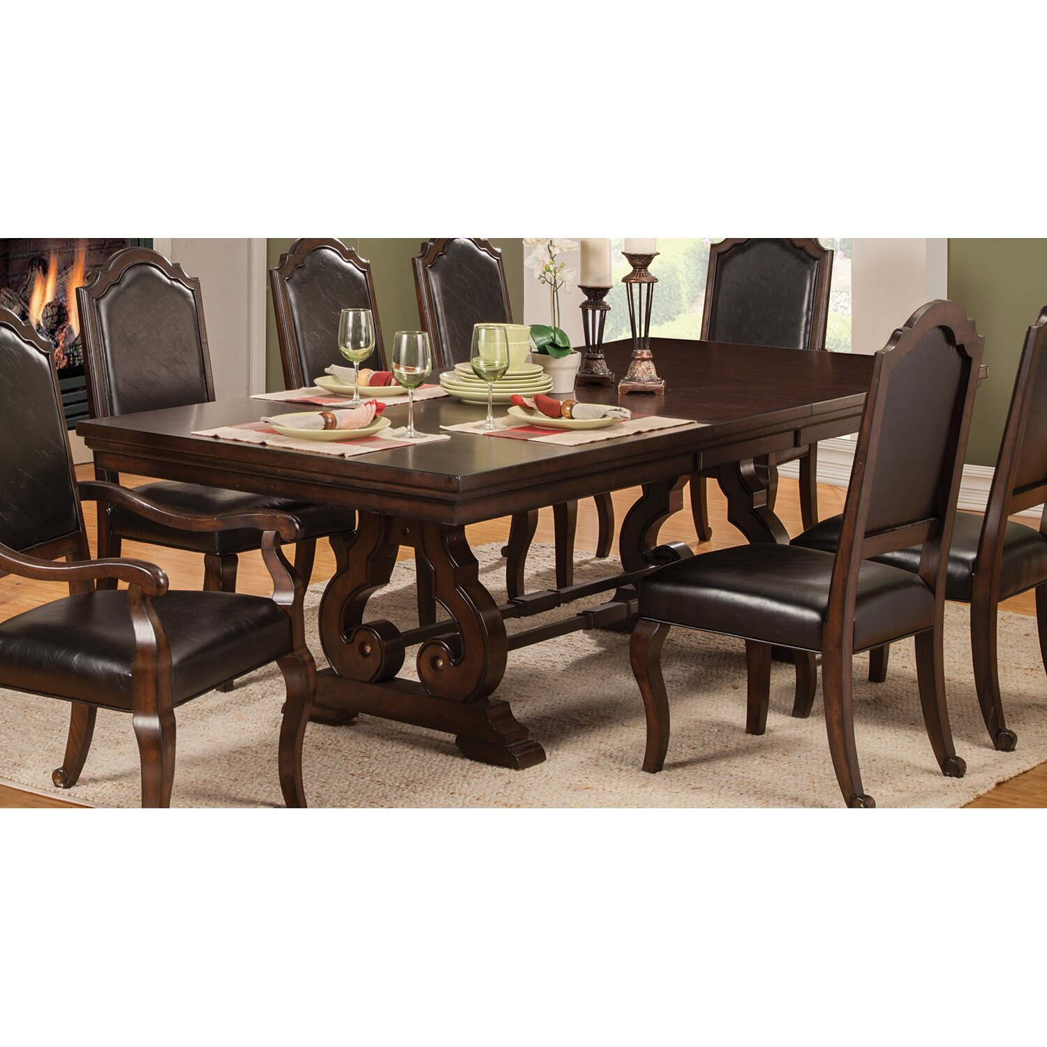 Wildon home bedford dining table wayfair for Wildon home dining