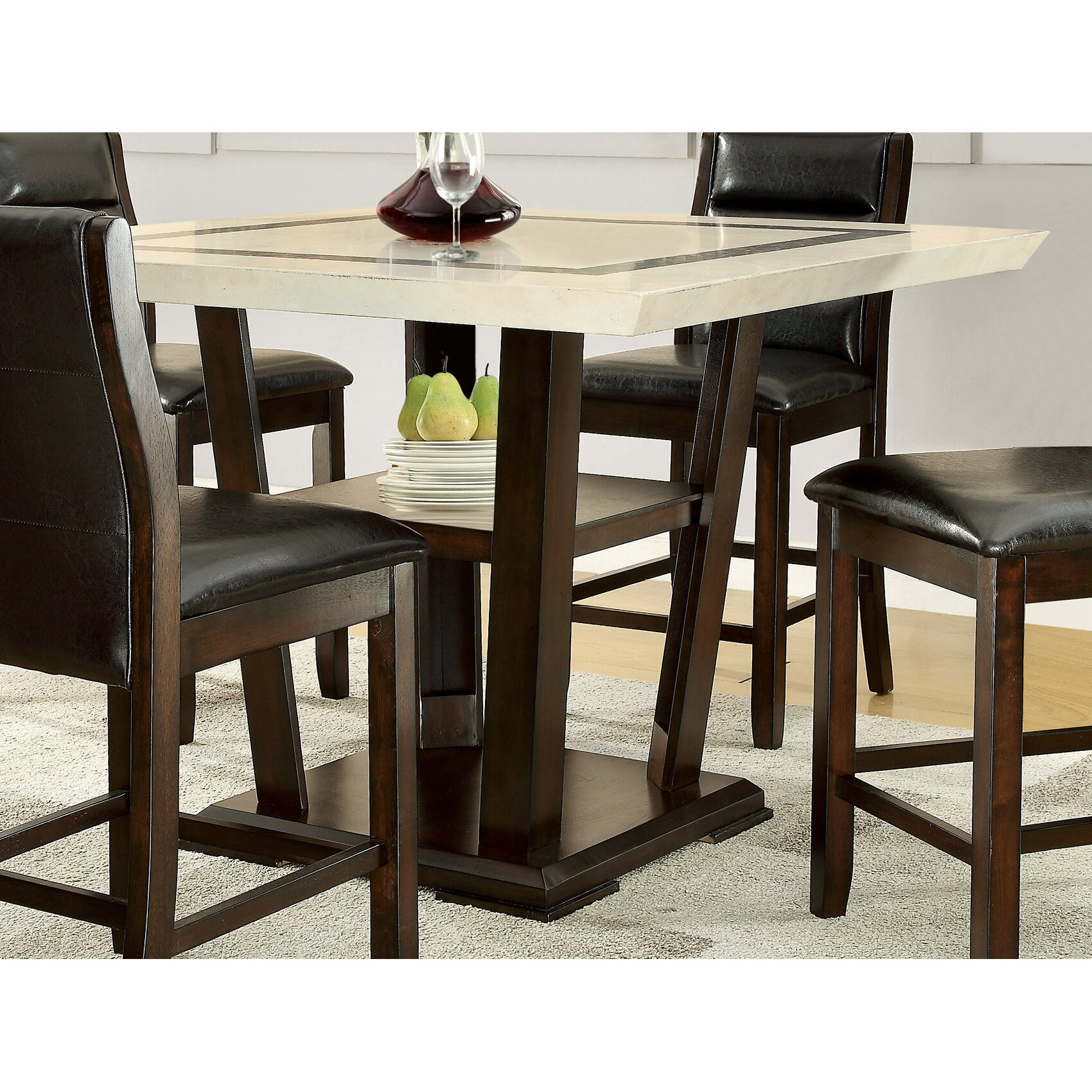 wildon home counter height dining table reviews wayfair