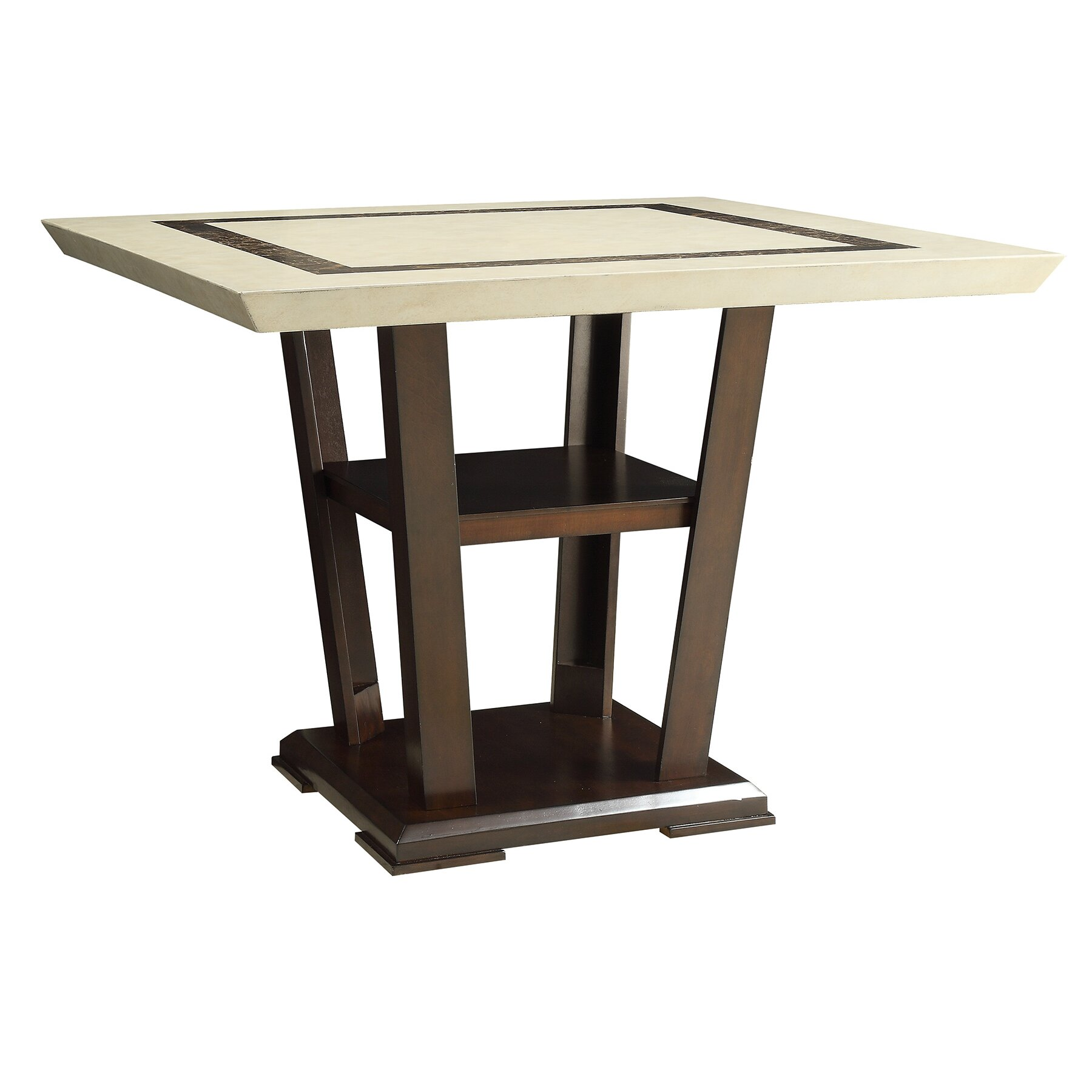 Wildon home counter height dining table reviews wayfair for Tall dining table