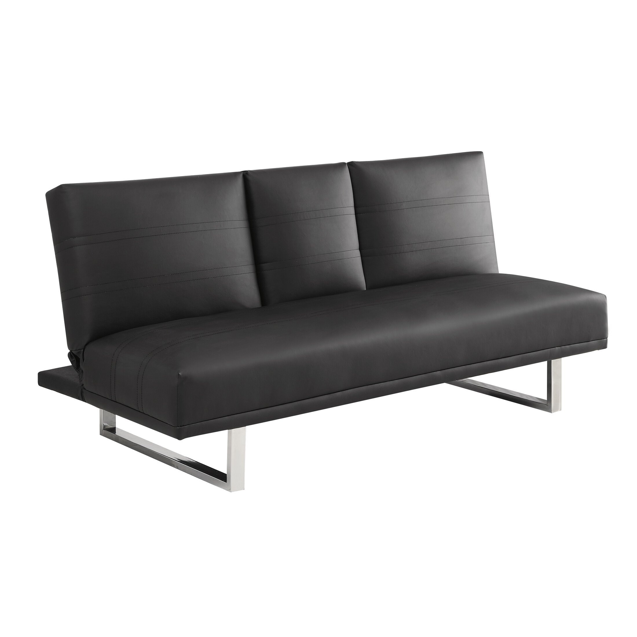 Wildon Home Leather Sleeper Sofa Wayfair