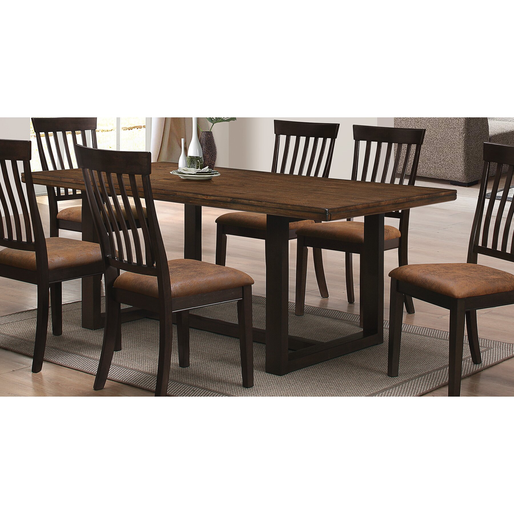 Wildon home river dining table reviews wayfair for Wildon home dining