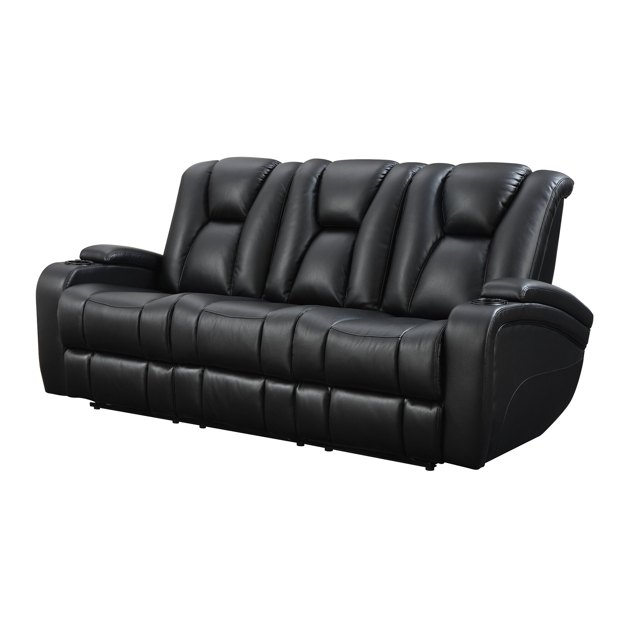 wildon home delange power leather reclining sofa. Black Bedroom Furniture Sets. Home Design Ideas