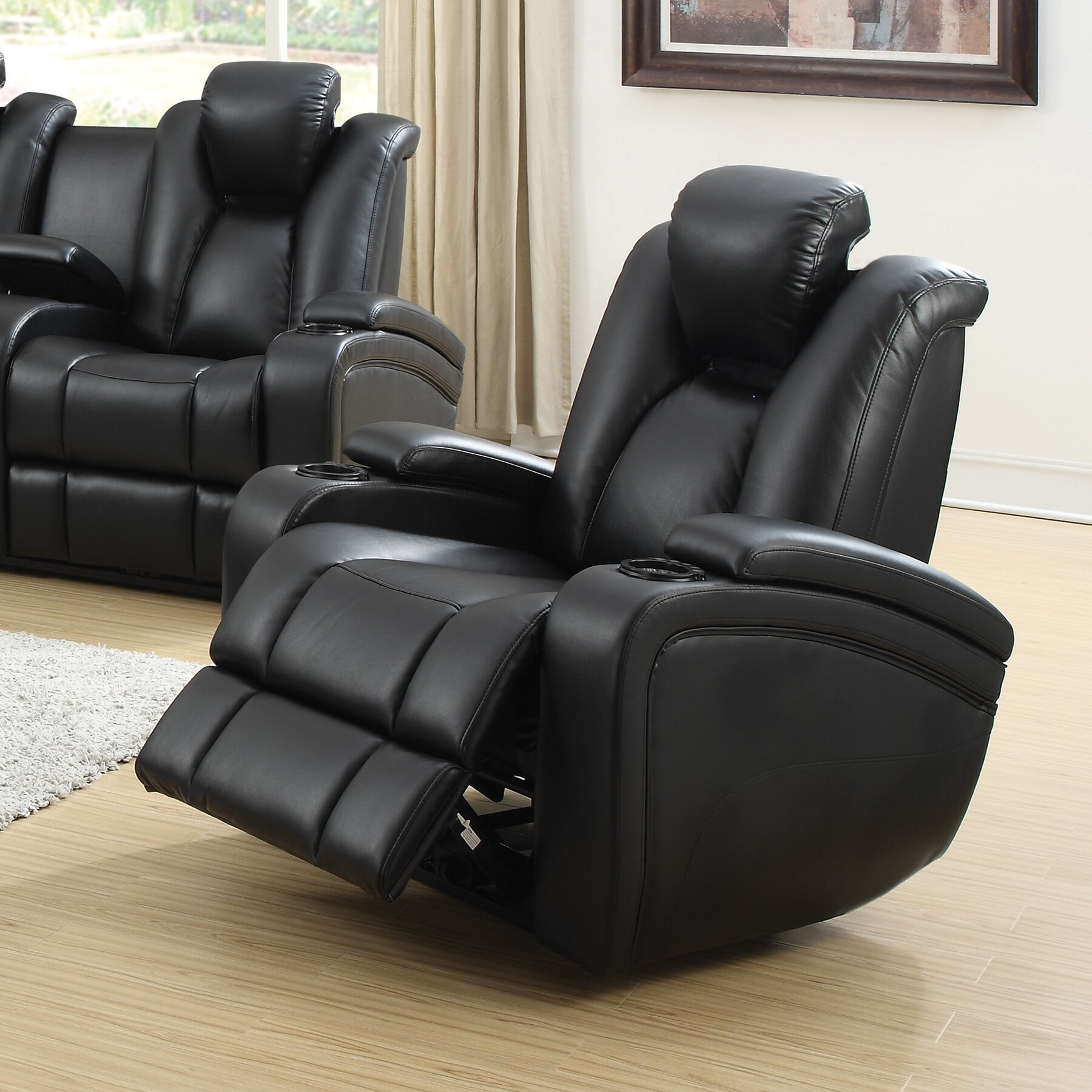 Wildon home delange motion power recliner reviews for Electric recliners reviews