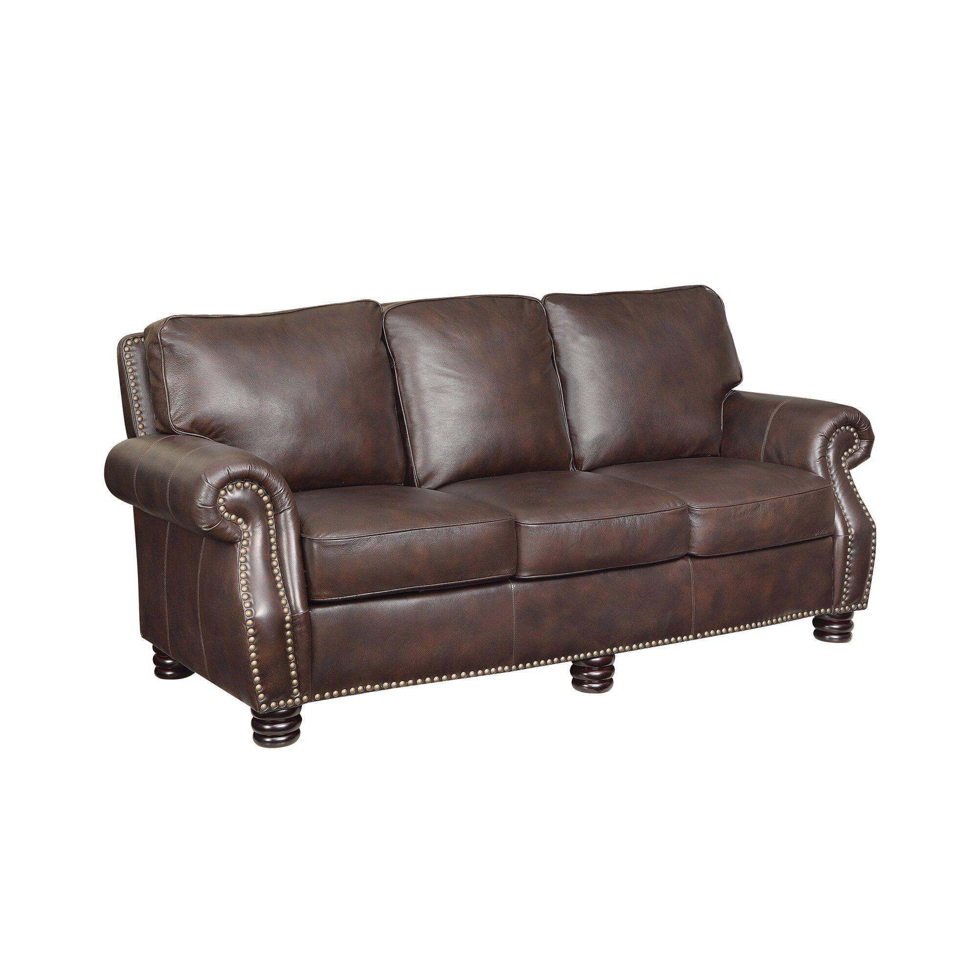 Wildon Home Briscoe Leather Modular Sofa Wayfair