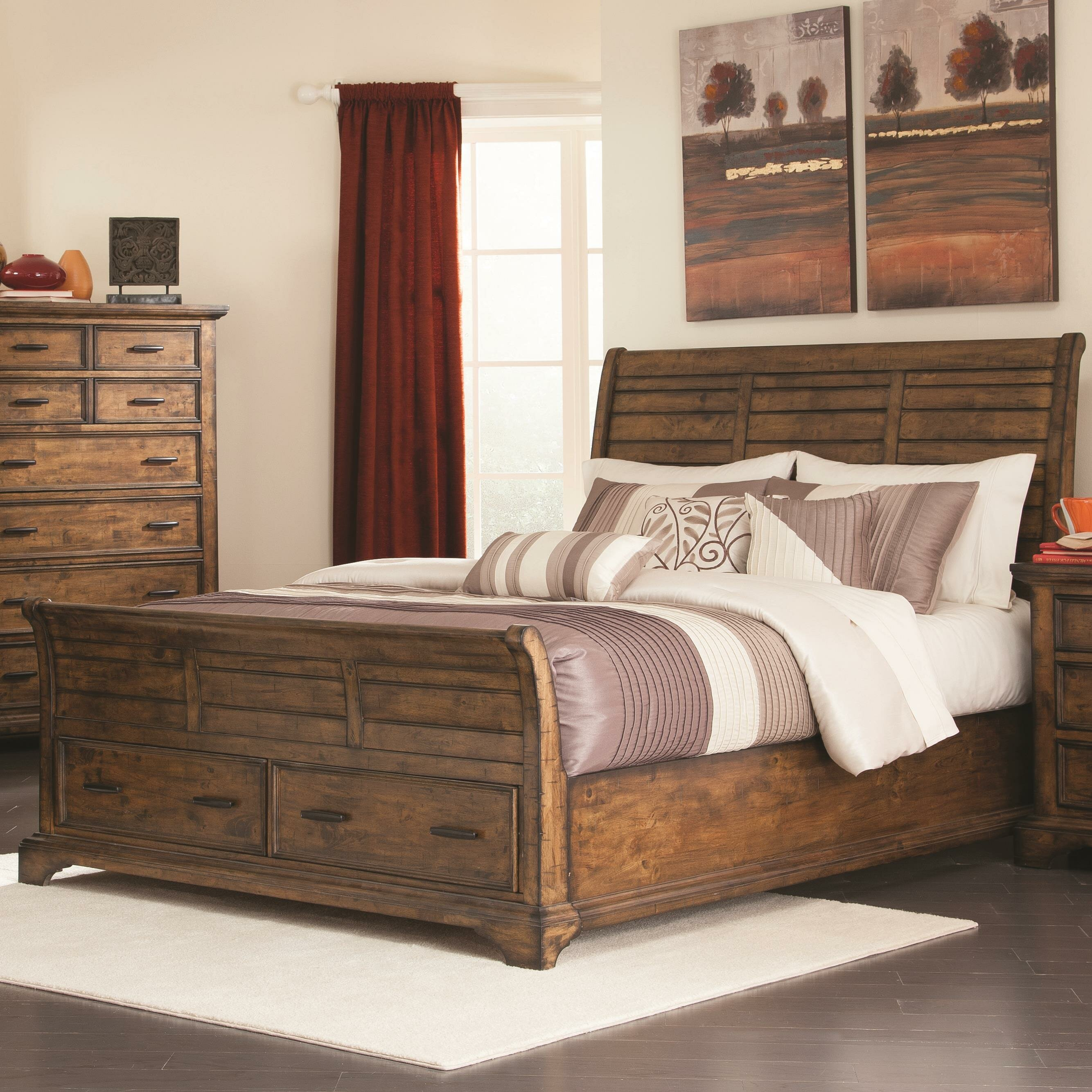 Wildon home elk grove california king sleigh for King bedroom furniture