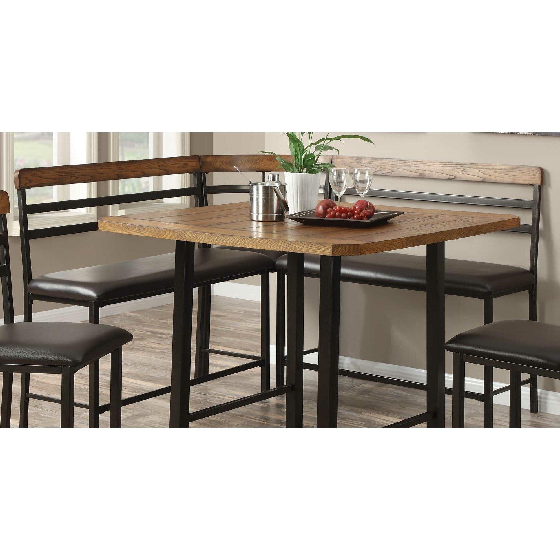 Wildon home sheldon 4 piece dining set reviews wayfair for 4 piece dining room set