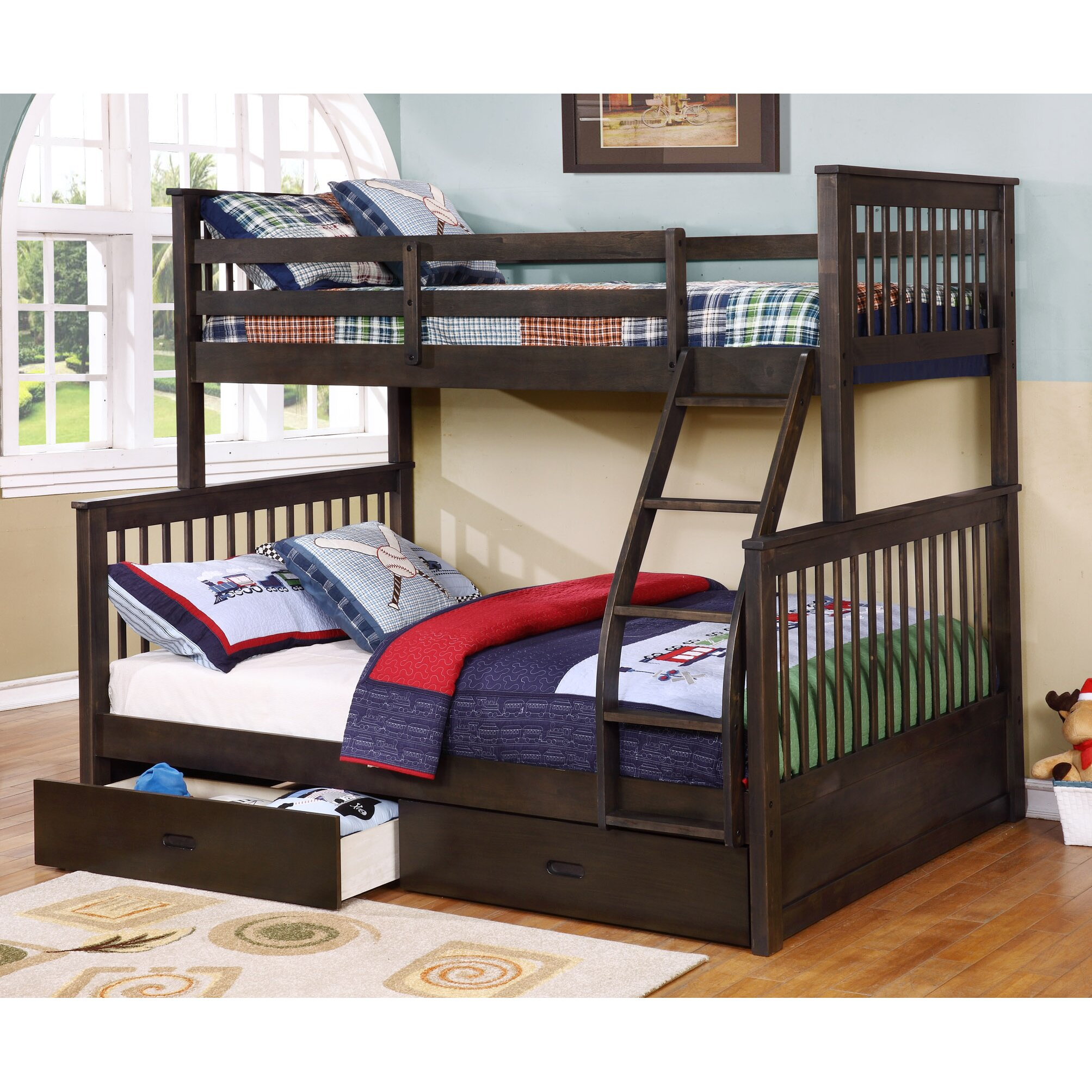 Wildon Home R Paloma Mission Twin Over Full Bunk Bed With