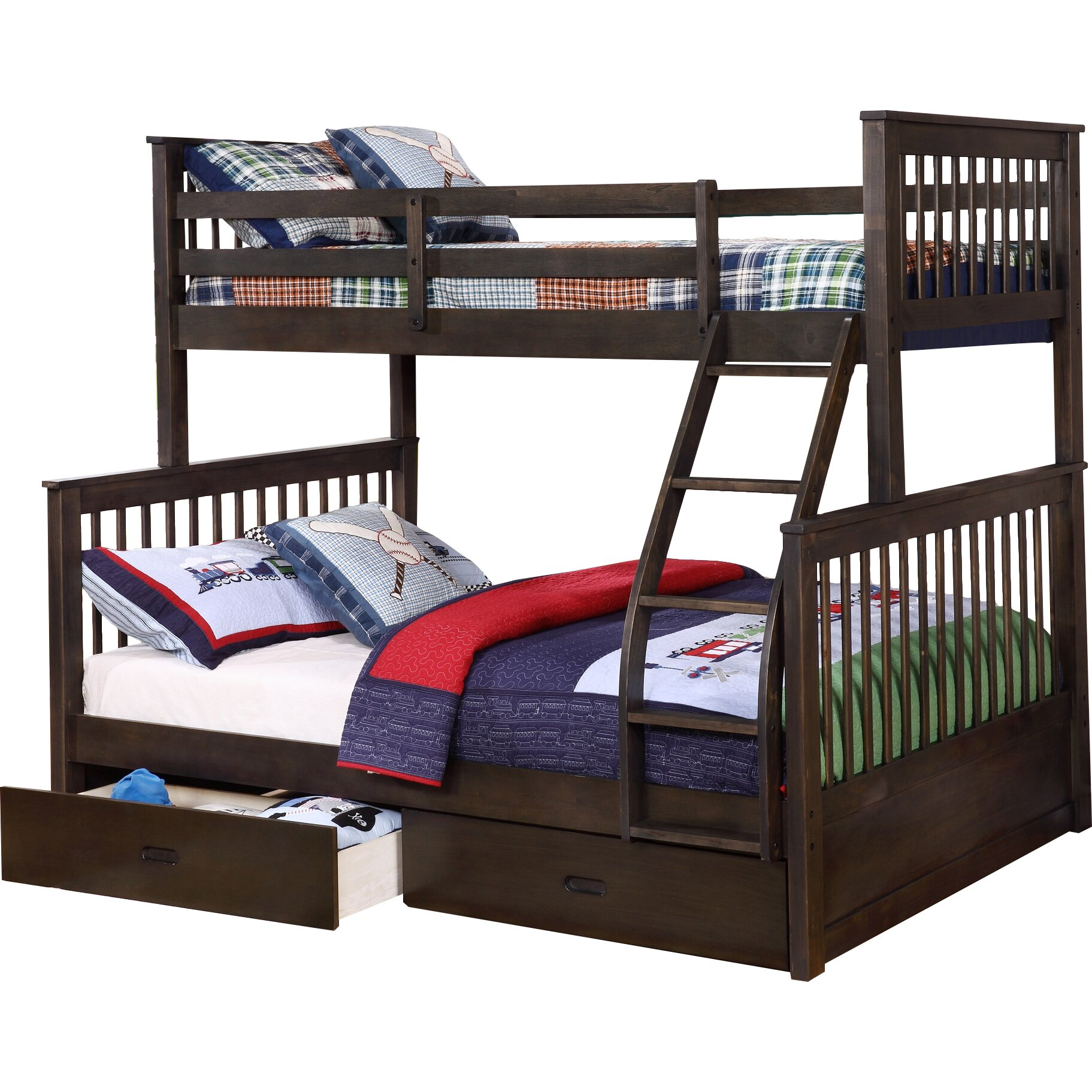 Wildon Home 174 Paloma Mission Twin Over Full Bunk Bed With
