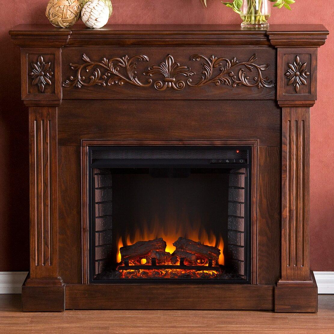 Wildon Home Oakley In Espresso Electric Fireplace Reviews Wayfair