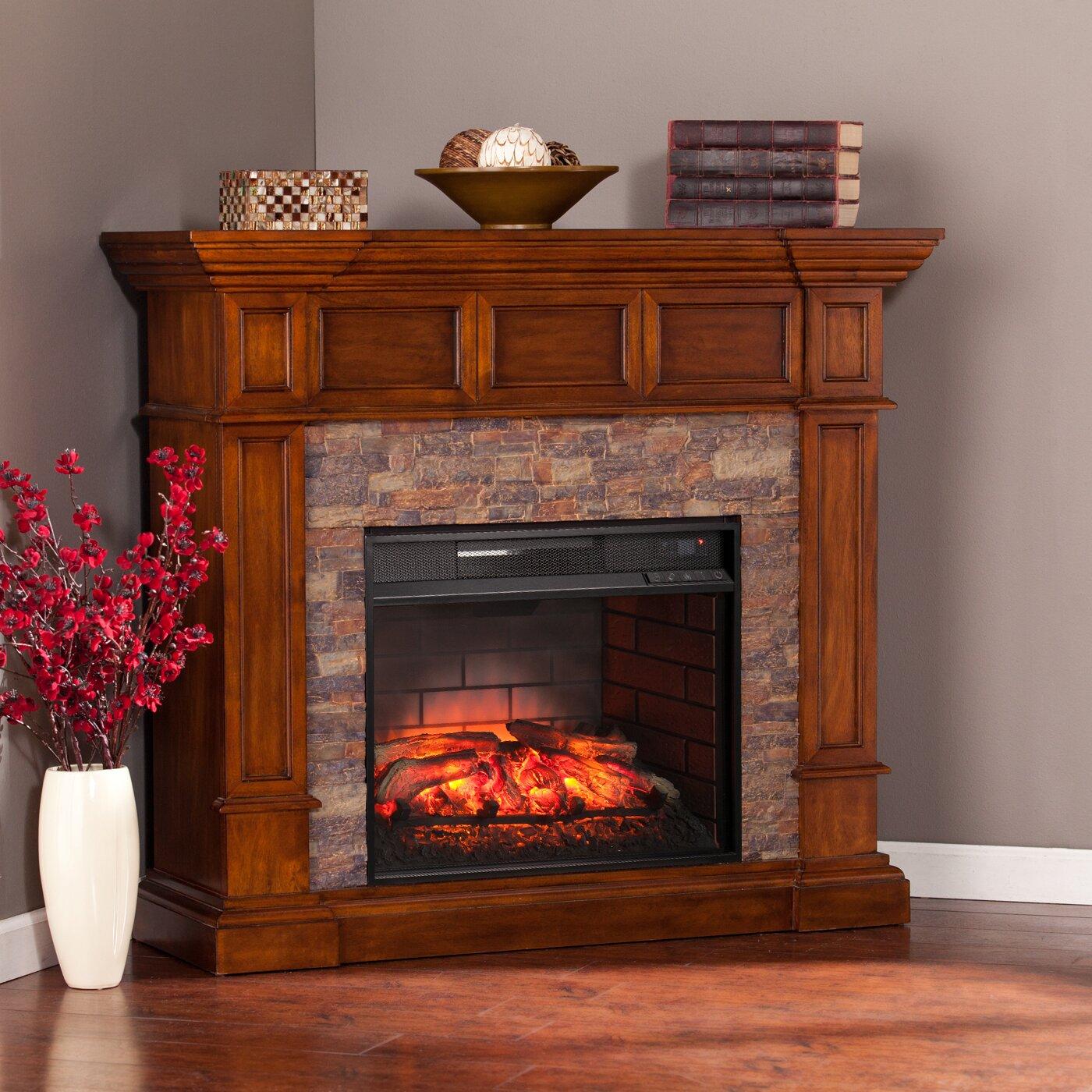 Wildon Home ® Frazier Corner Convertible Infrared Electric ...
