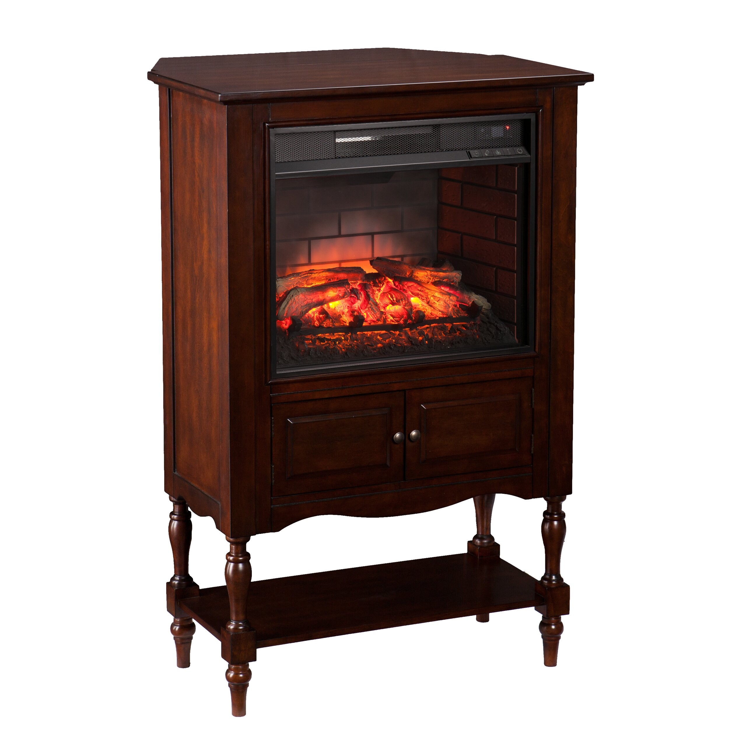 Wildon Home Wexford Antique Infrared Electric Fireplace Reviews Wayfair