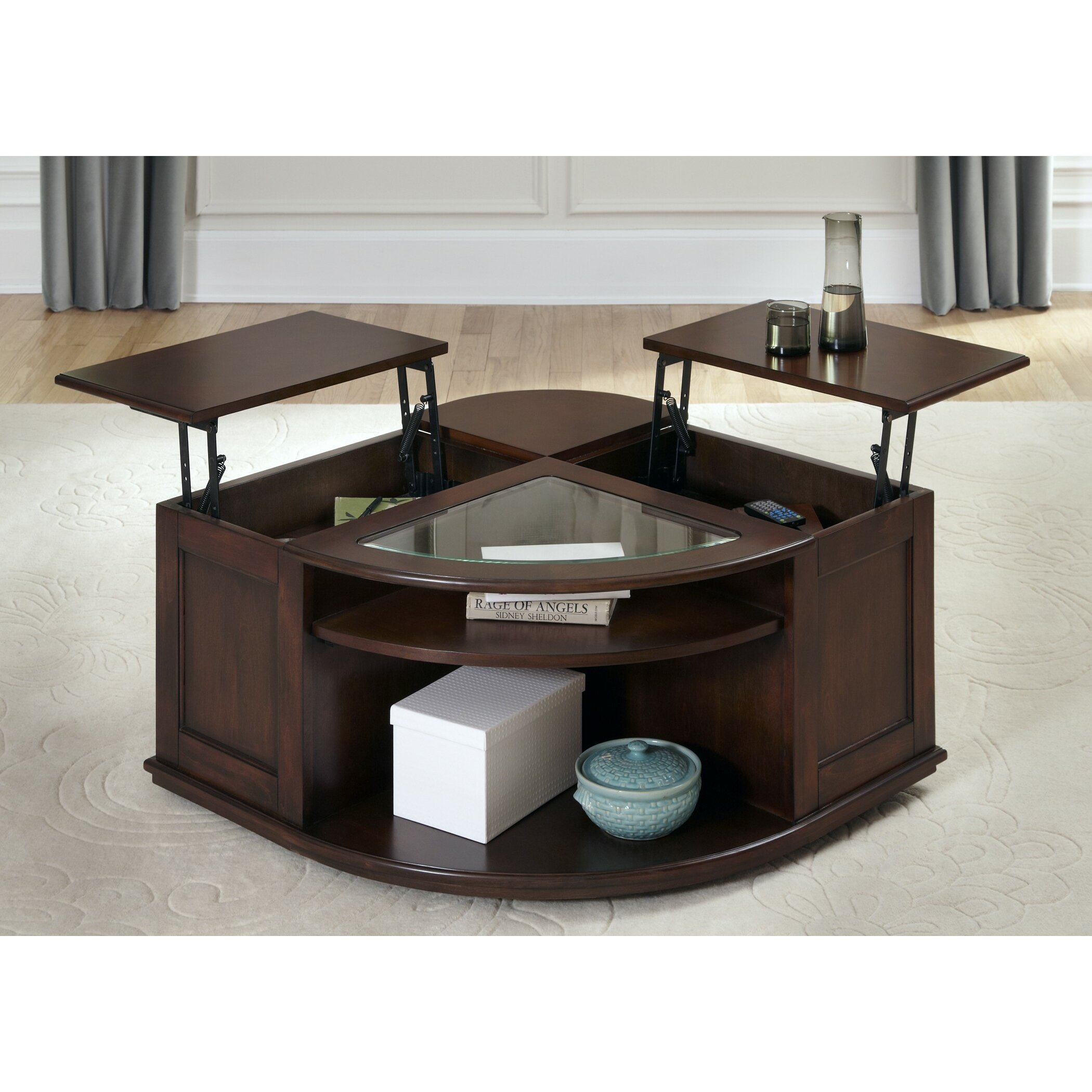 Wildon home coffee table with lift top reviews wayfair Lifting top coffee table