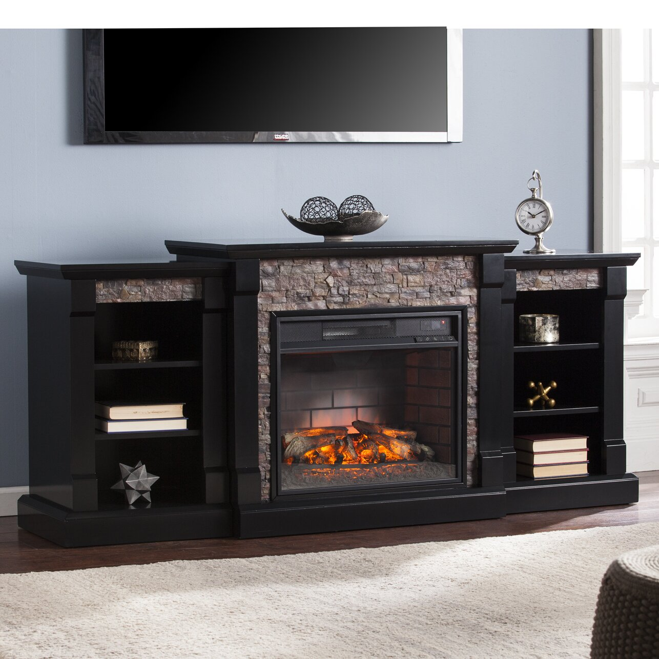 Wildon Home Galley Infrared Electric Fireplace Reviews Wayfair