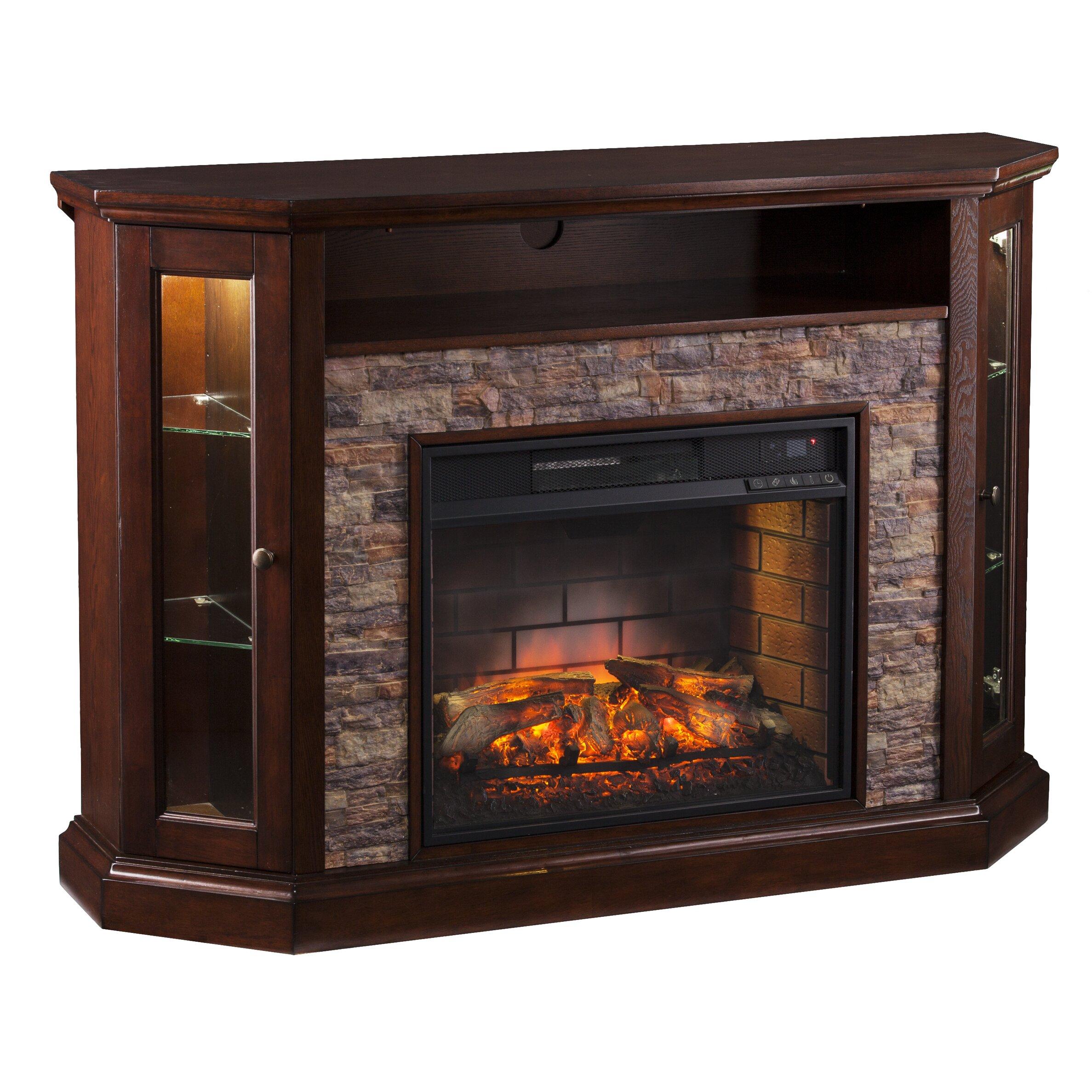 Wildon Home Rupert Corner Convertible Infrared Electric Fireplace Reviews Wayfair
