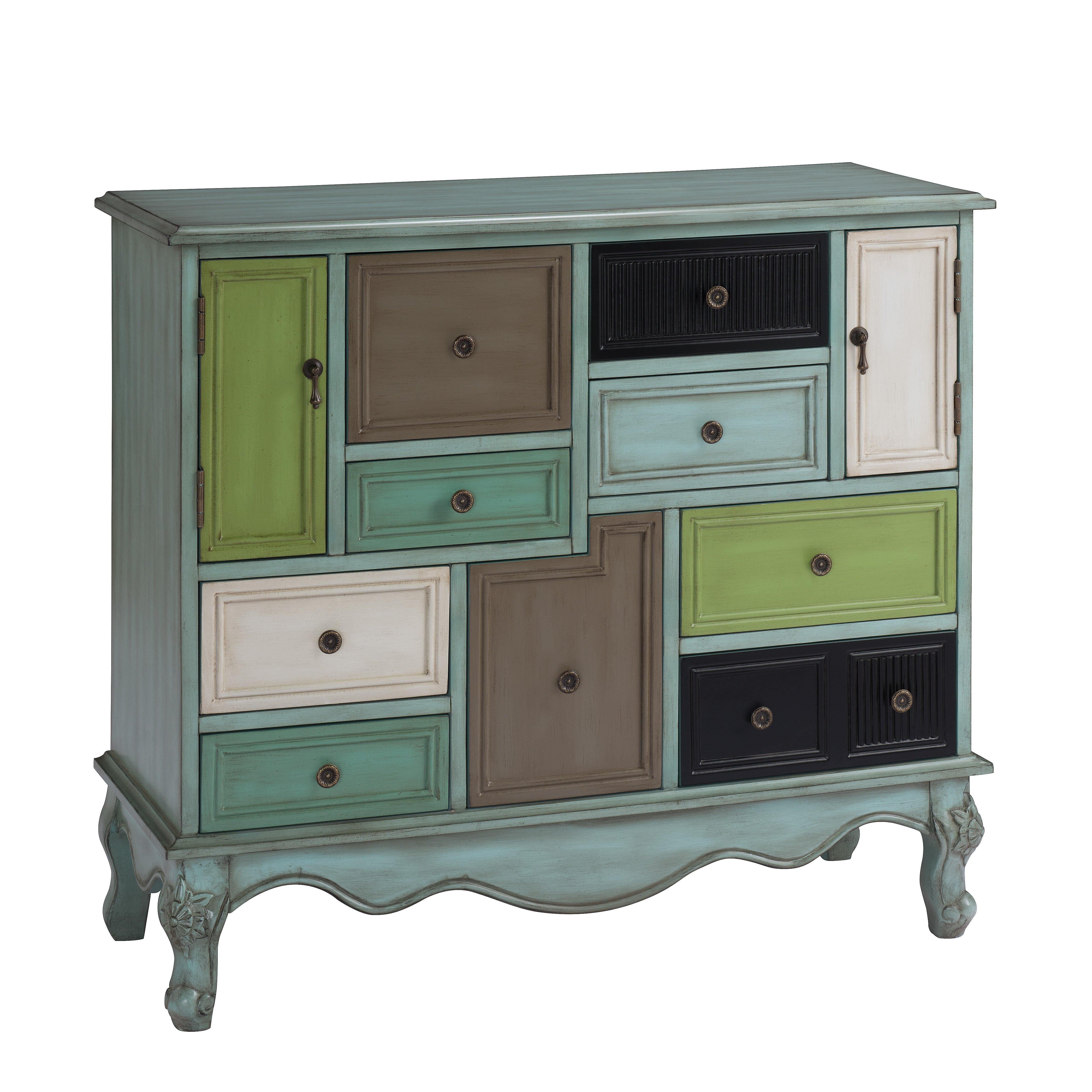 Wildon home freemanstown 9 drawer 2 door cabinet for 1 drawer 2 door cabinet