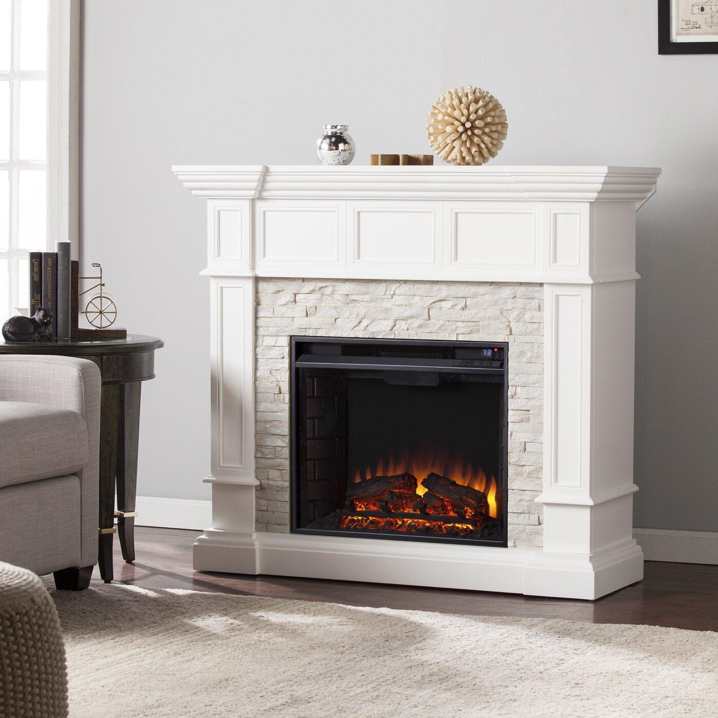Wildon Home Frazier Corner Convertible Electric Fireplace Reviews Wayfair