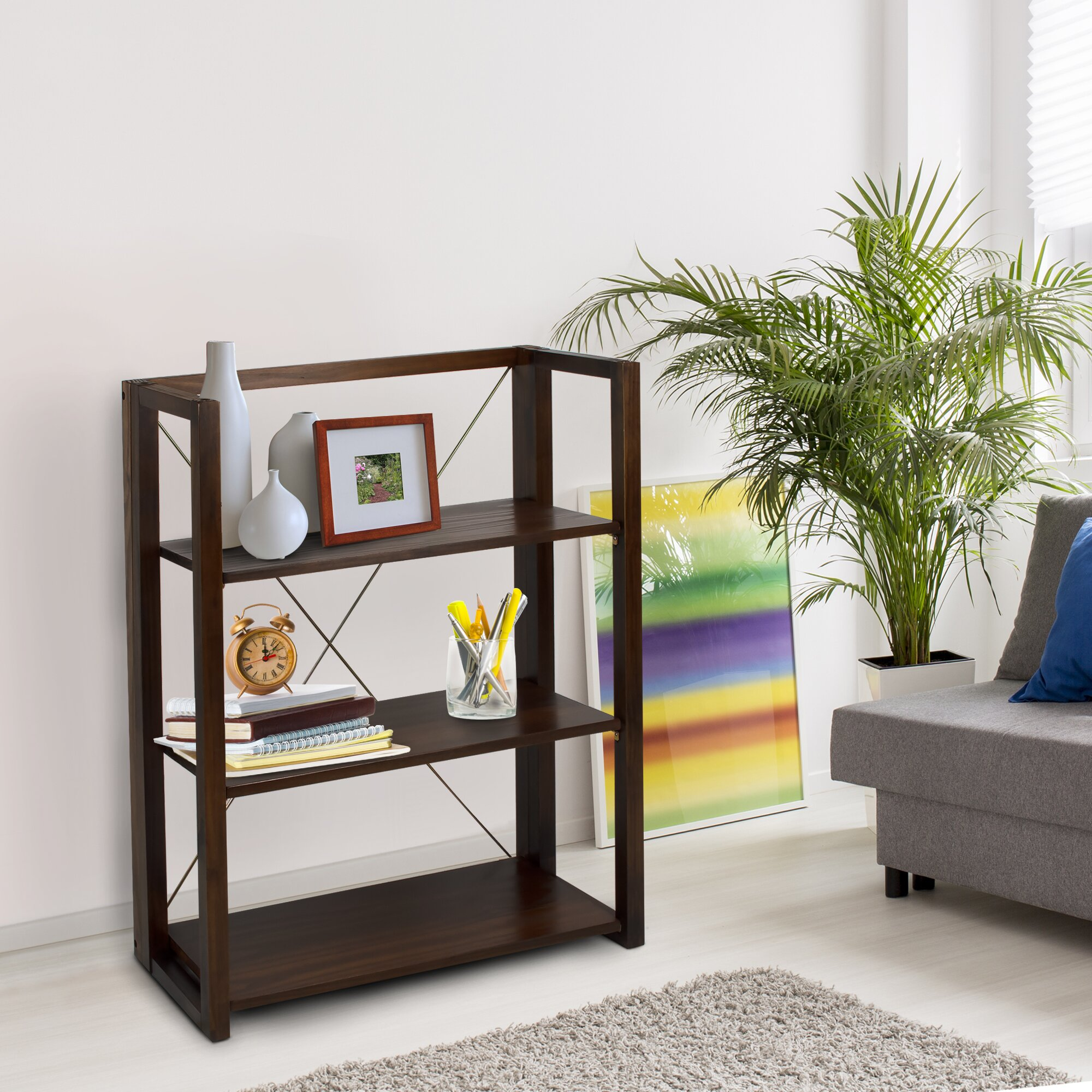 Wildon Home Citiscape Folding Stacking 38 Bookcase
