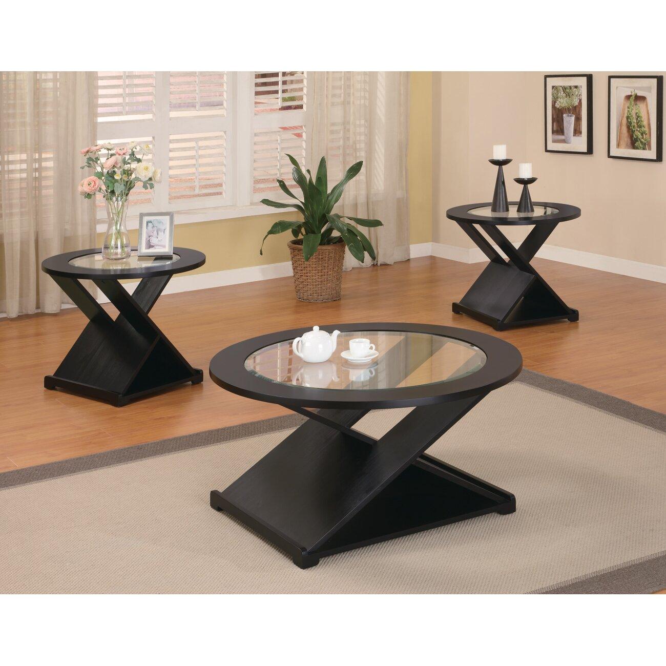 Wildon Home Amalga 3 Piece Coffee Table Set Reviews Wayfair