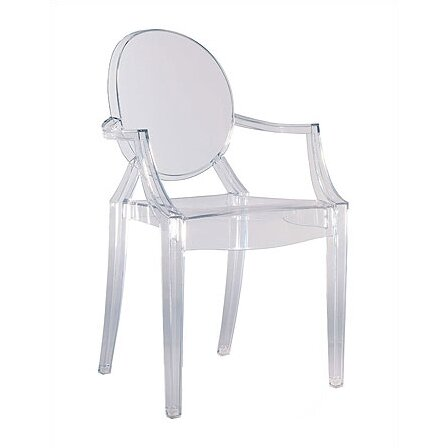kartell louis ghost arm chair reviews wayfair. Black Bedroom Furniture Sets. Home Design Ideas