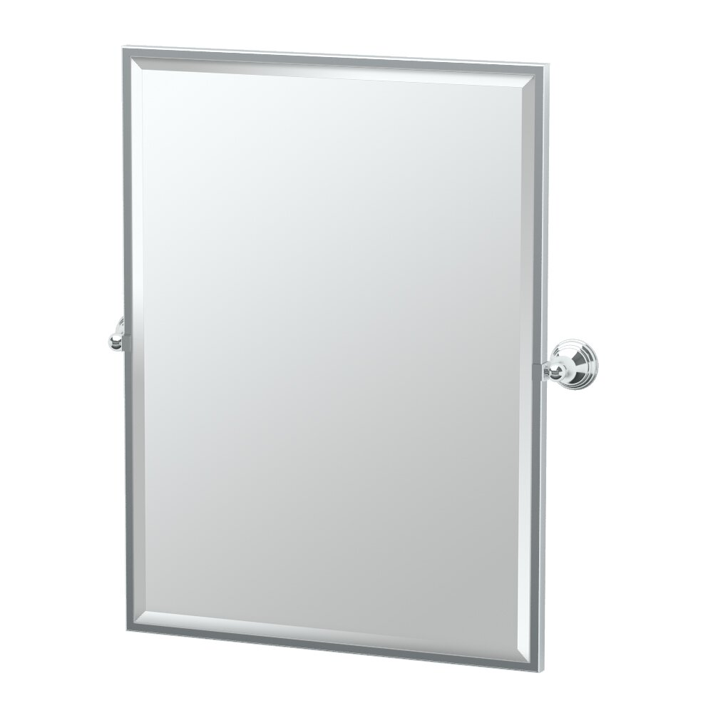 Gatco charlotte framed rectangle mirror reviews wayfair for Rectangle mirror