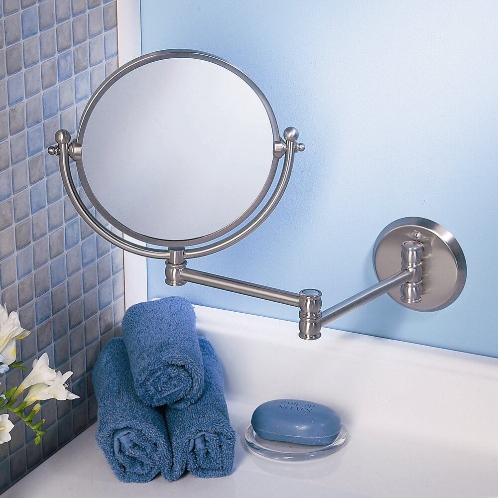 bathroom accessories mirrors gatco solutions premium swing arm mirror amp reviews 10195