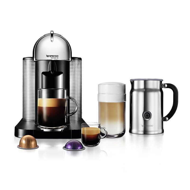 Nespresso VertuoLine Coffee & Espresso Maker + Milk Frother & Reviews Wayfair