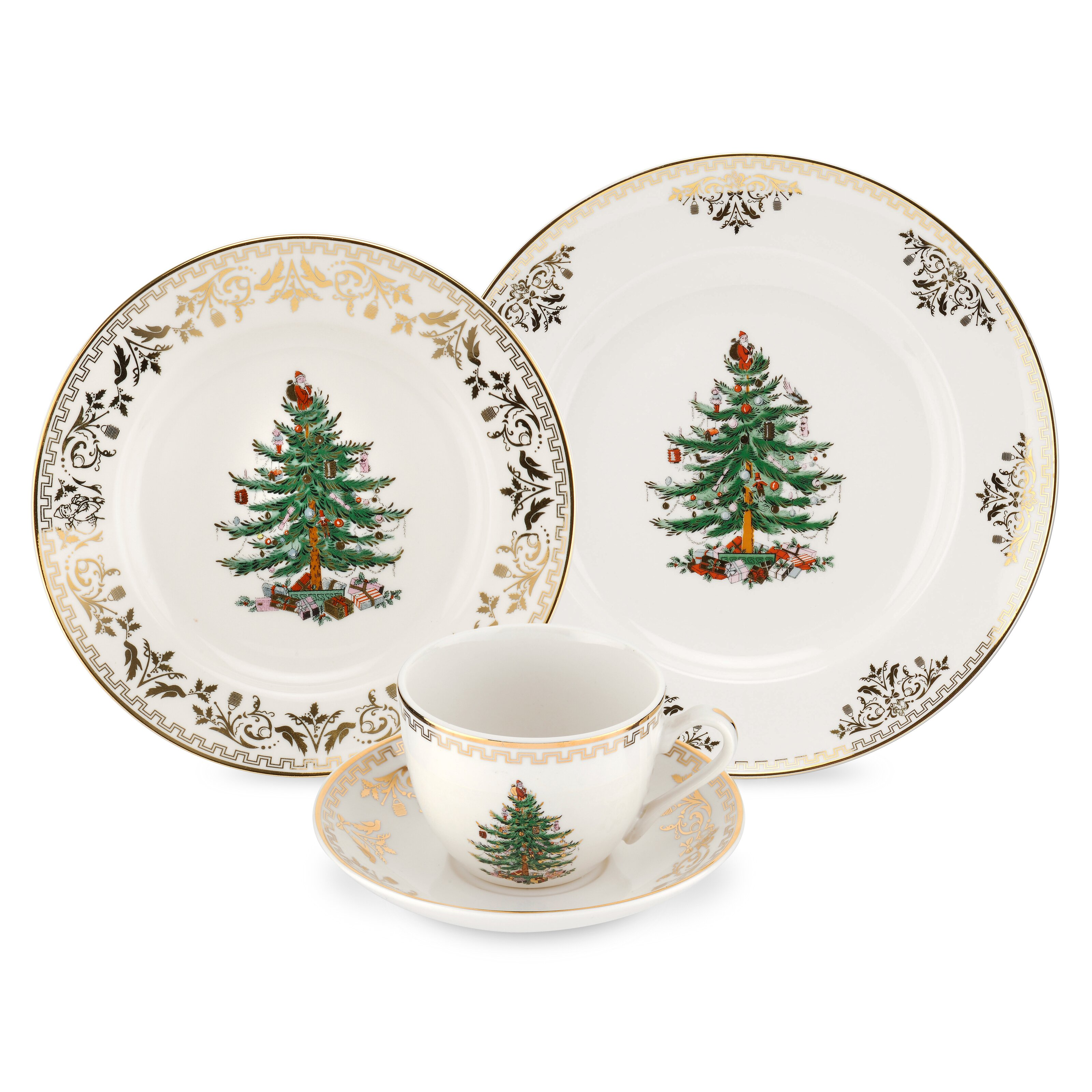 Spode Christmas Tree Gold 4 Piece Place Setting Amp Reviews
