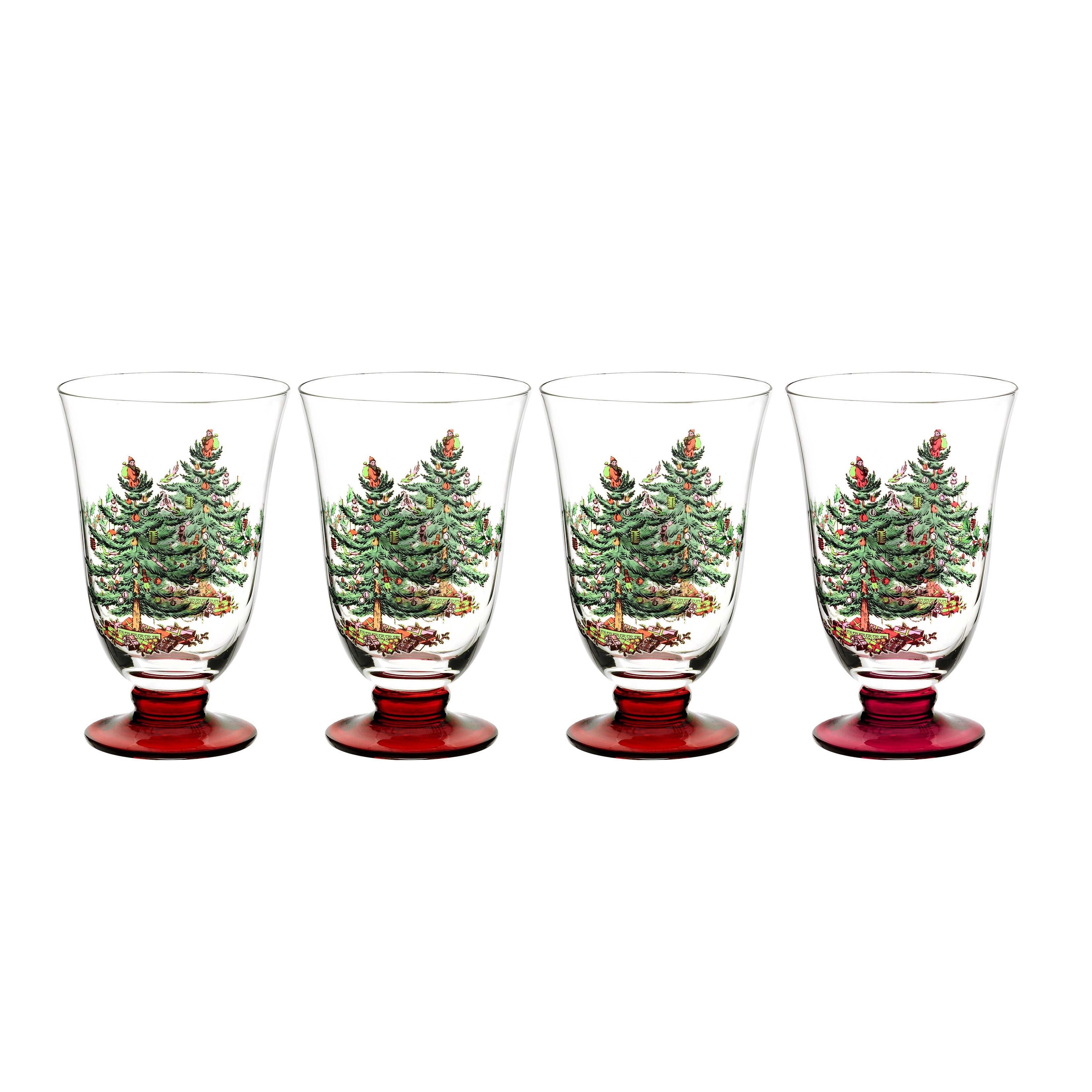Spode christmas tree glass footed all purpose reviews for Holiday stemware