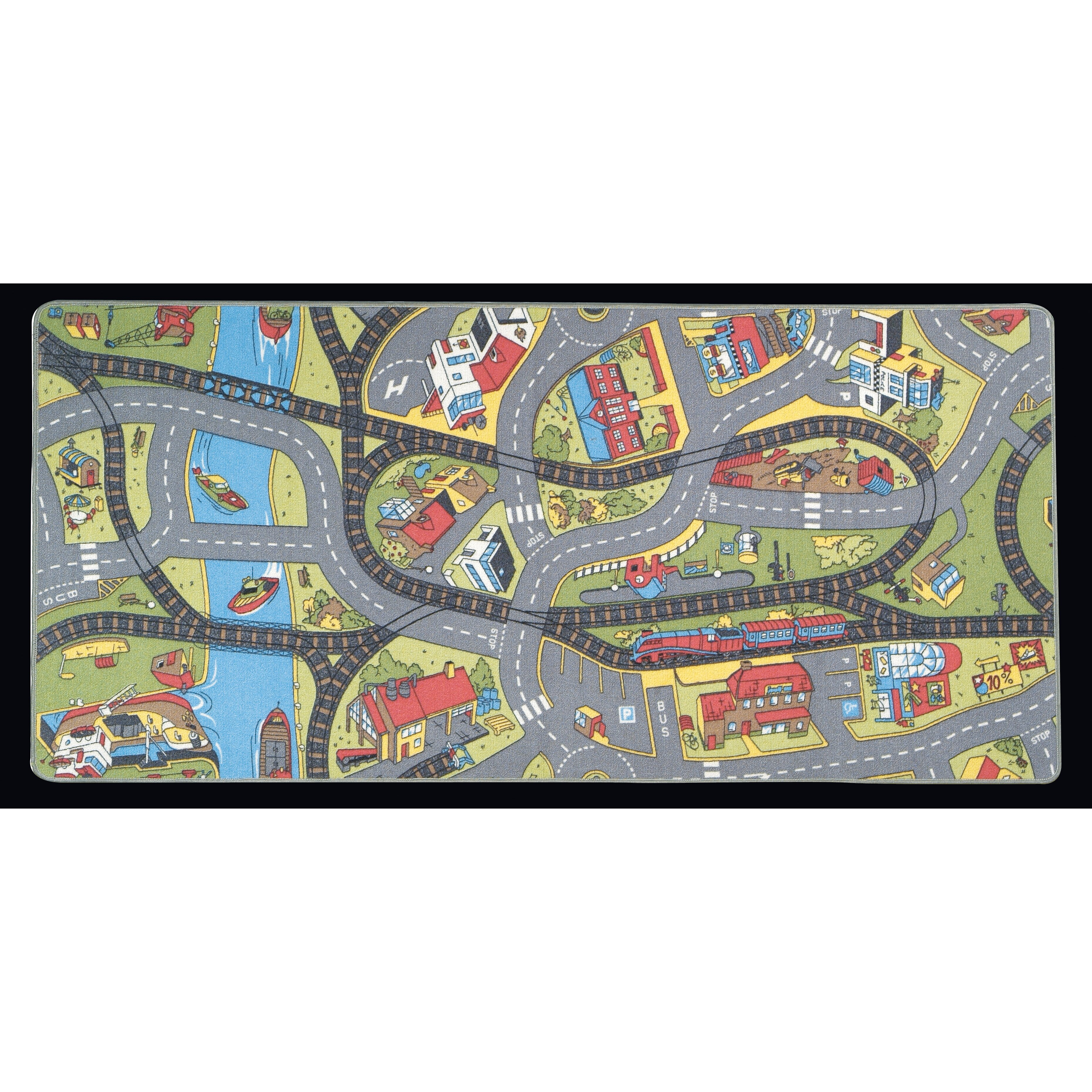 Learning Rug: Learning Carpets Ride The Train Kids Rug & Reviews