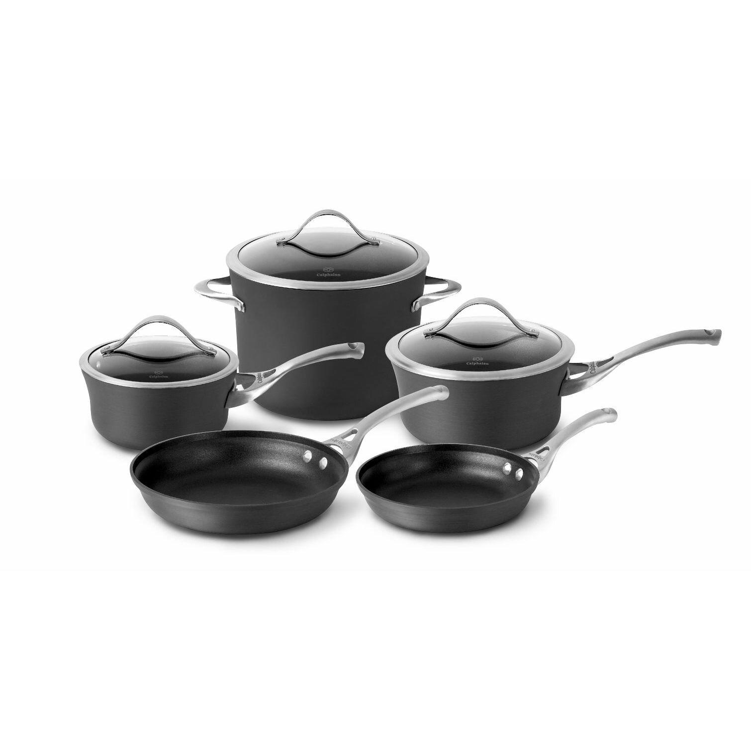 Calphalon Contemporary Nonstick 8 Piece Cookware Set