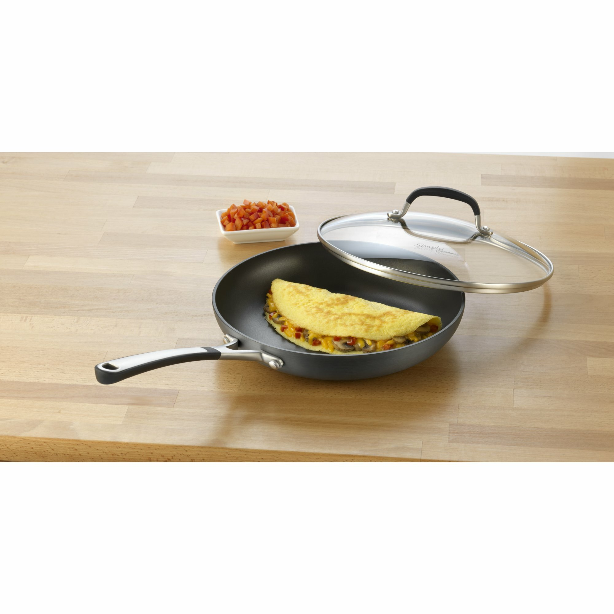 Calphalon Simply Nonstick Omelette Pan With Lid Amp Reviews