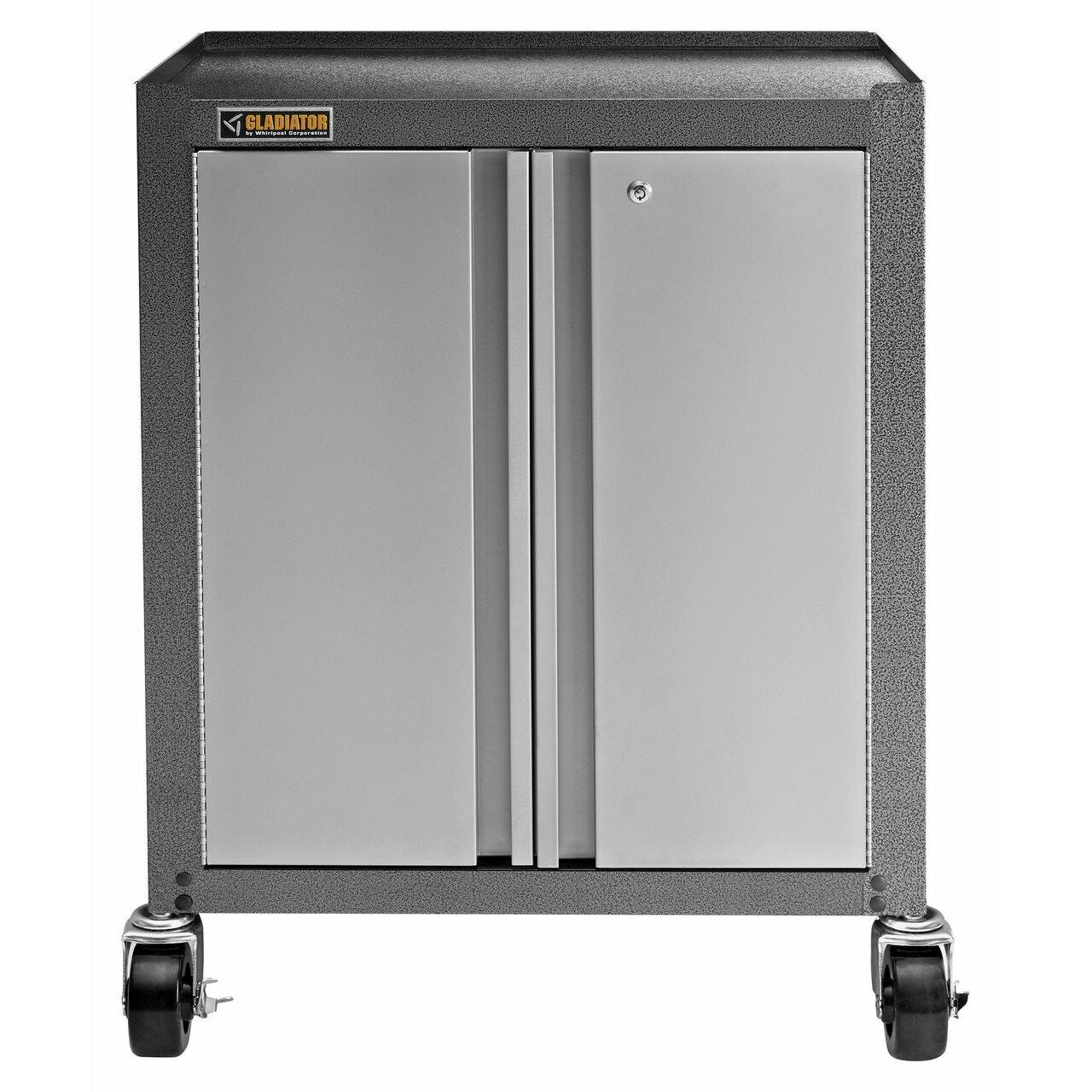 """Starter Kitchen Cabinets: Gladiator Starter Series 35"""" H X 27"""" W X 16"""" D Steel 2"""